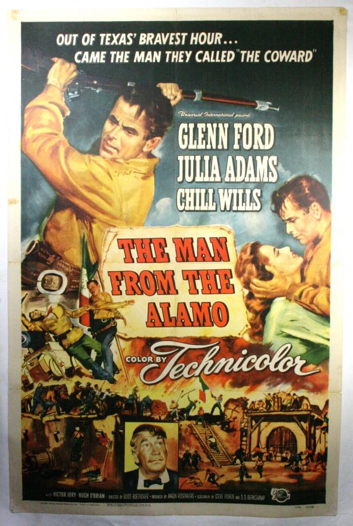 MAN FROM THE ALAMO, Original Vintage movie poster