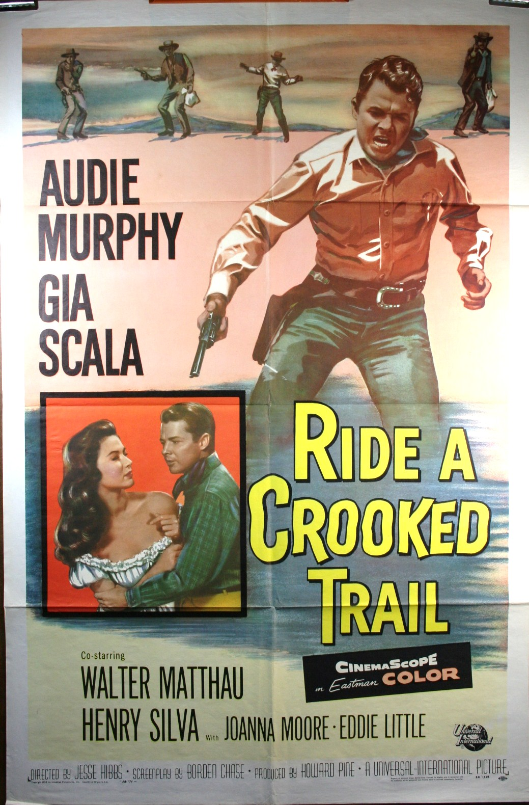 Ride A Crooked Trail Original Audie Murphy Movie Poster Original Vintage Movie Posters