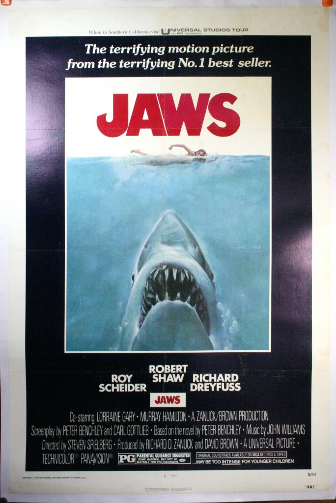 JAWS, Original Movie Poster – Linen