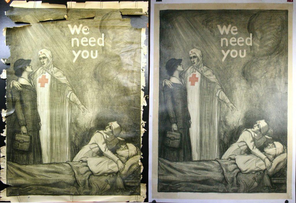 WW1 Propaganda Poster, Restoration Tier 5