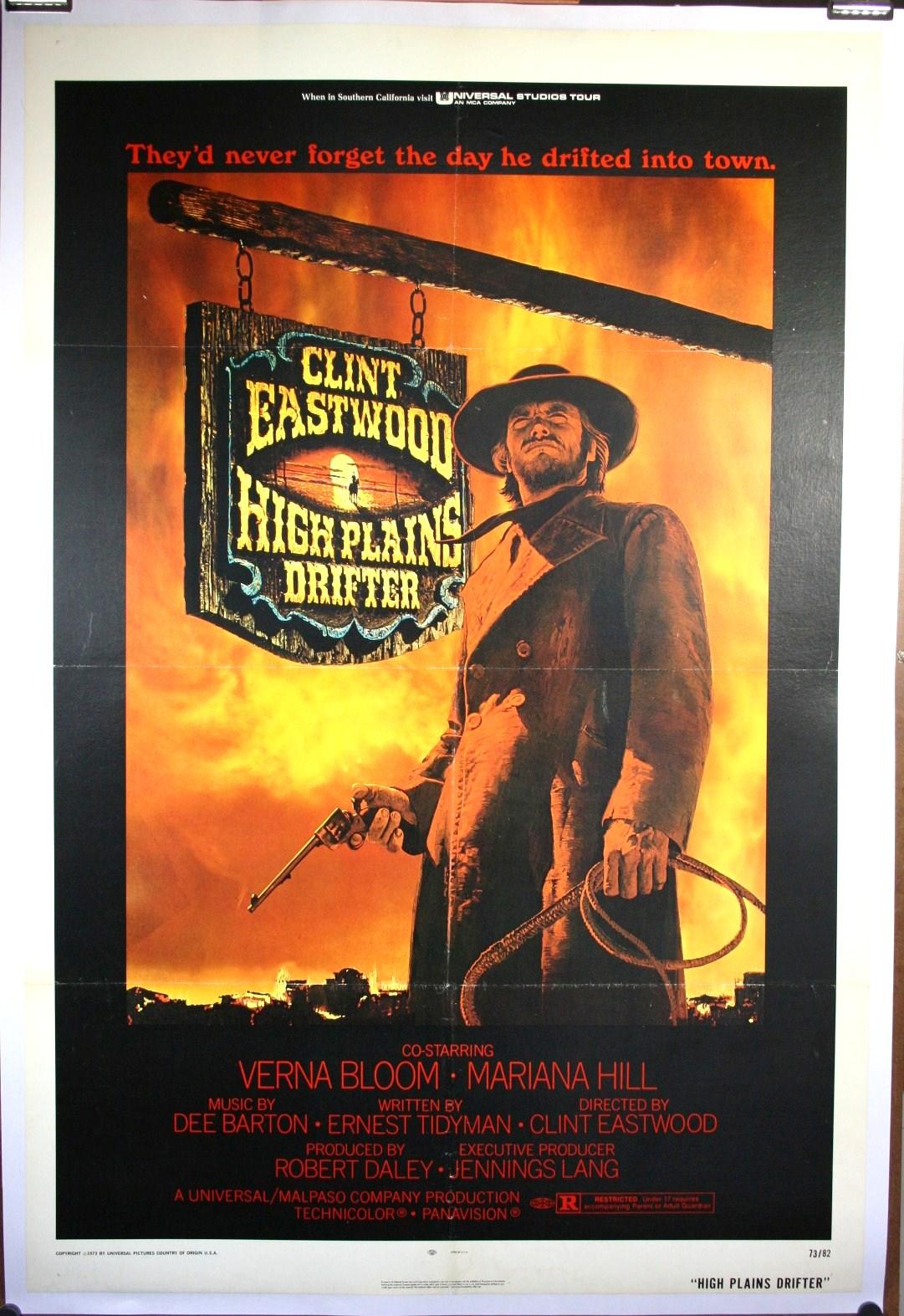high plains drifter original clint eastwood western poster