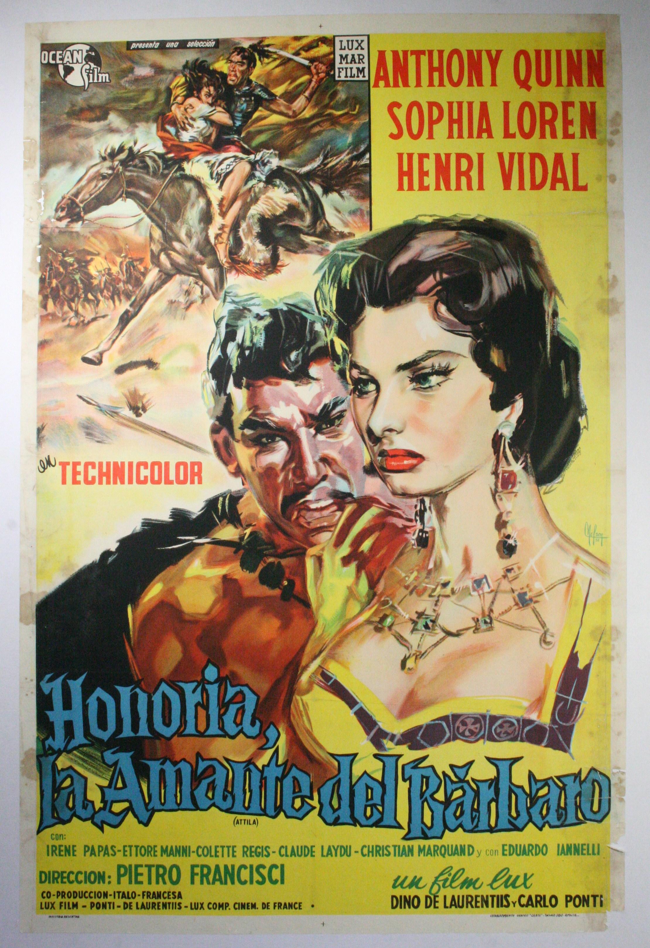 honoria la amante del barbaro cartel original de argentina