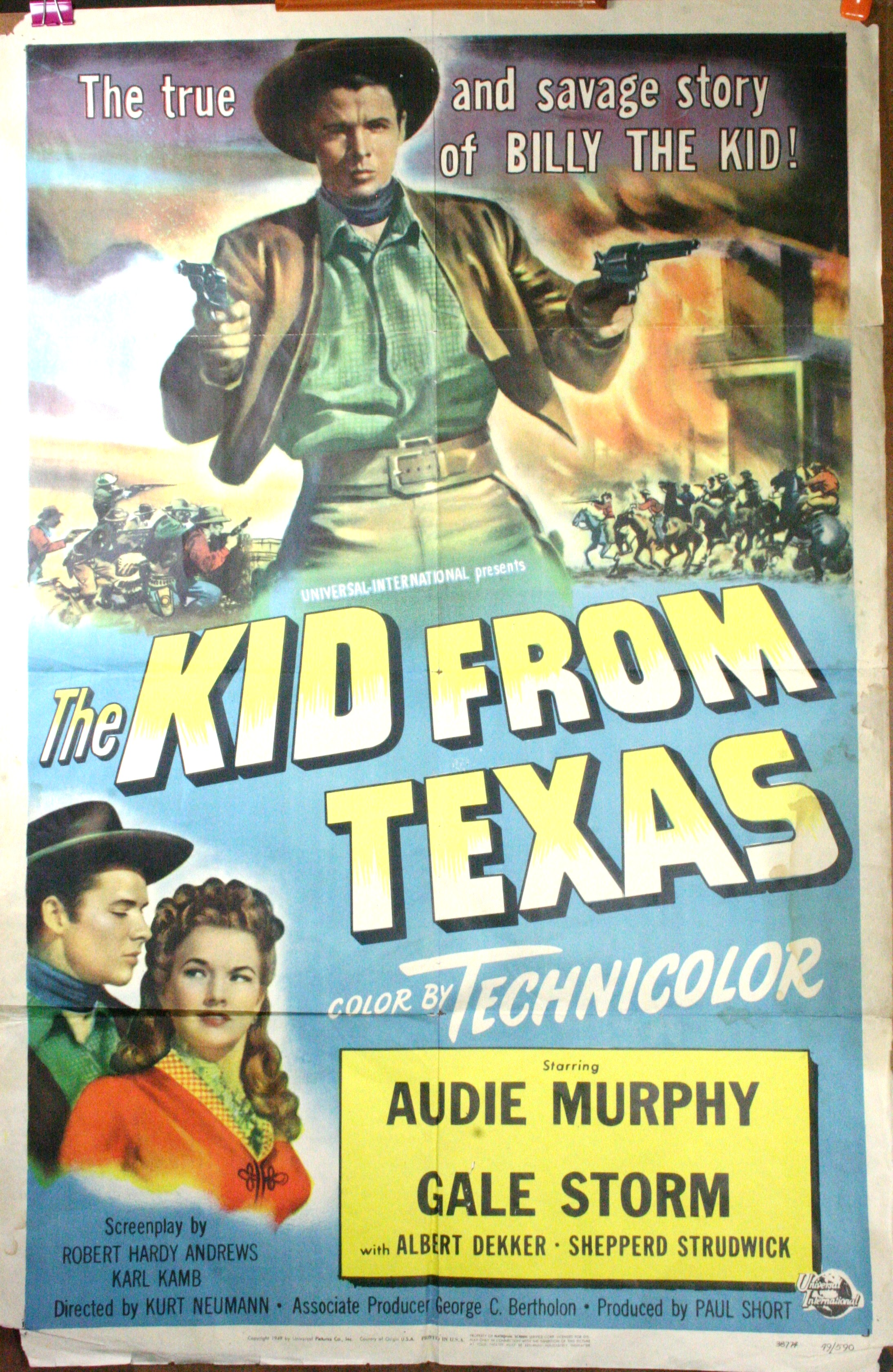 Kid From Texas Audie Murphy Movie Poster
