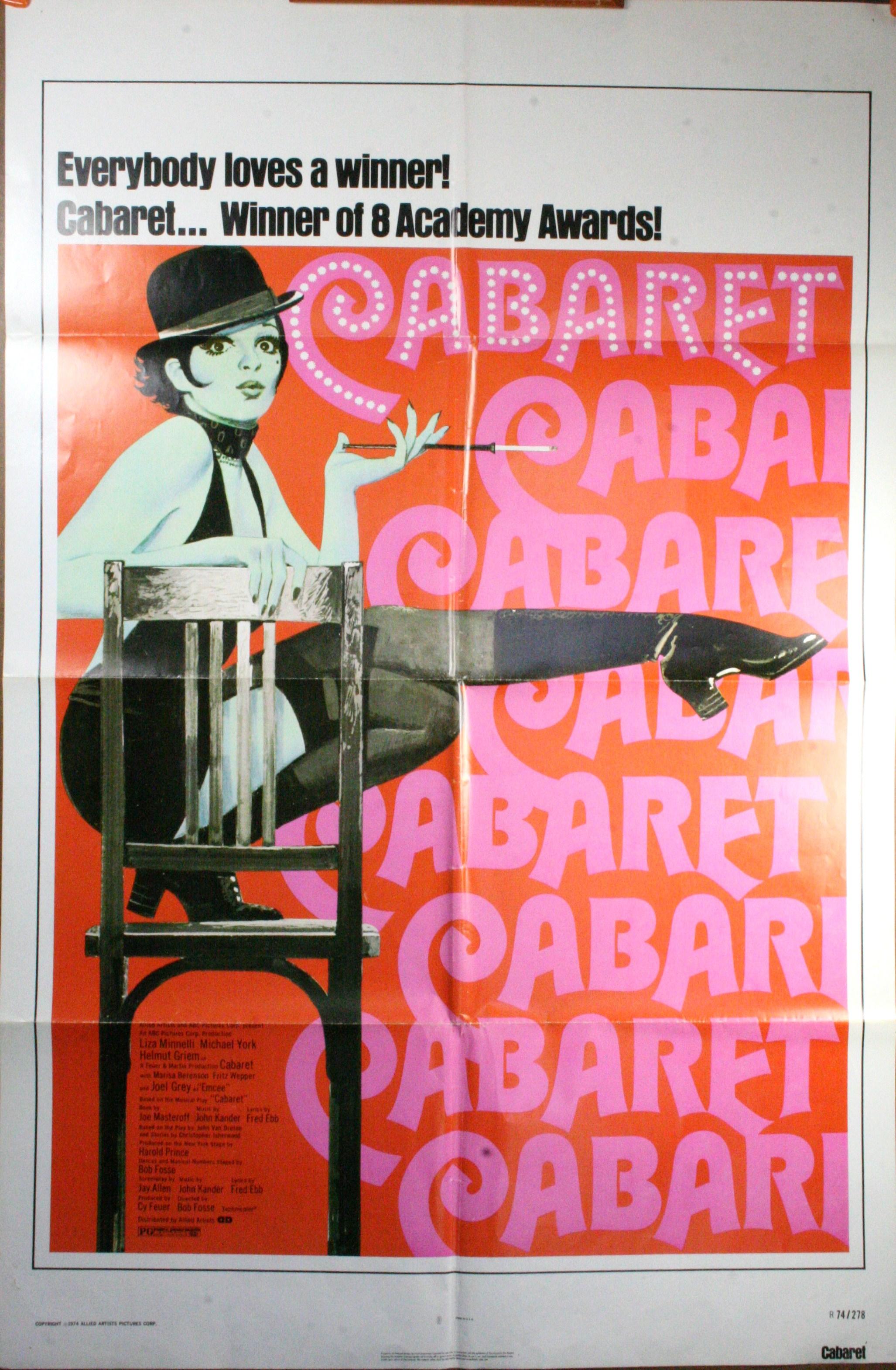 liza minnelli cabaret poster