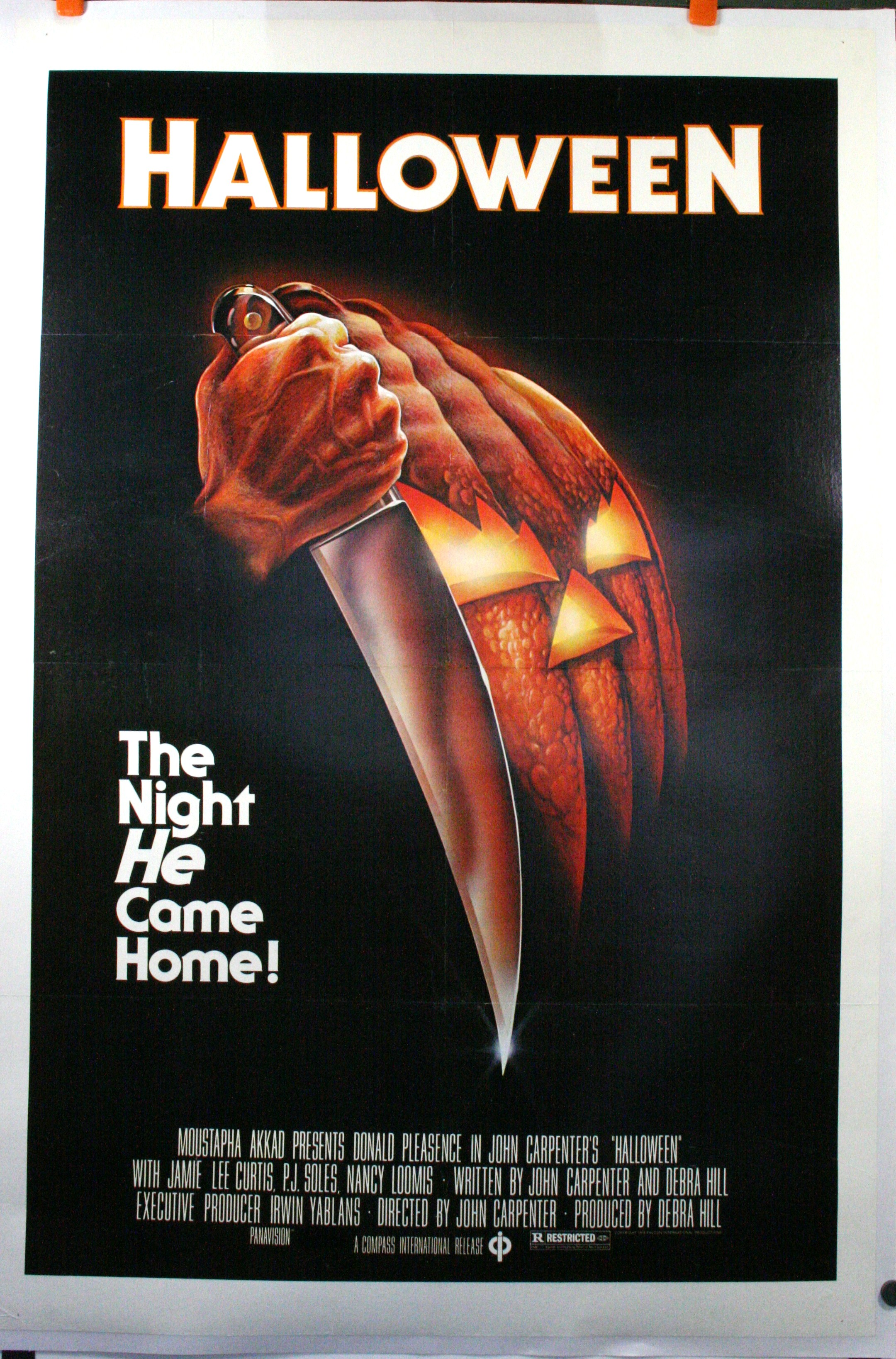 Halloween 1978 Movie Poster.Halloween Original Movie Poster Original Vintage Movie