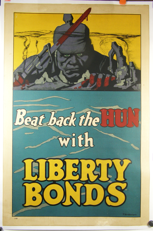 WW1 Poster, u201cBeat Back the Hunu201d, by Frederick Strothmann