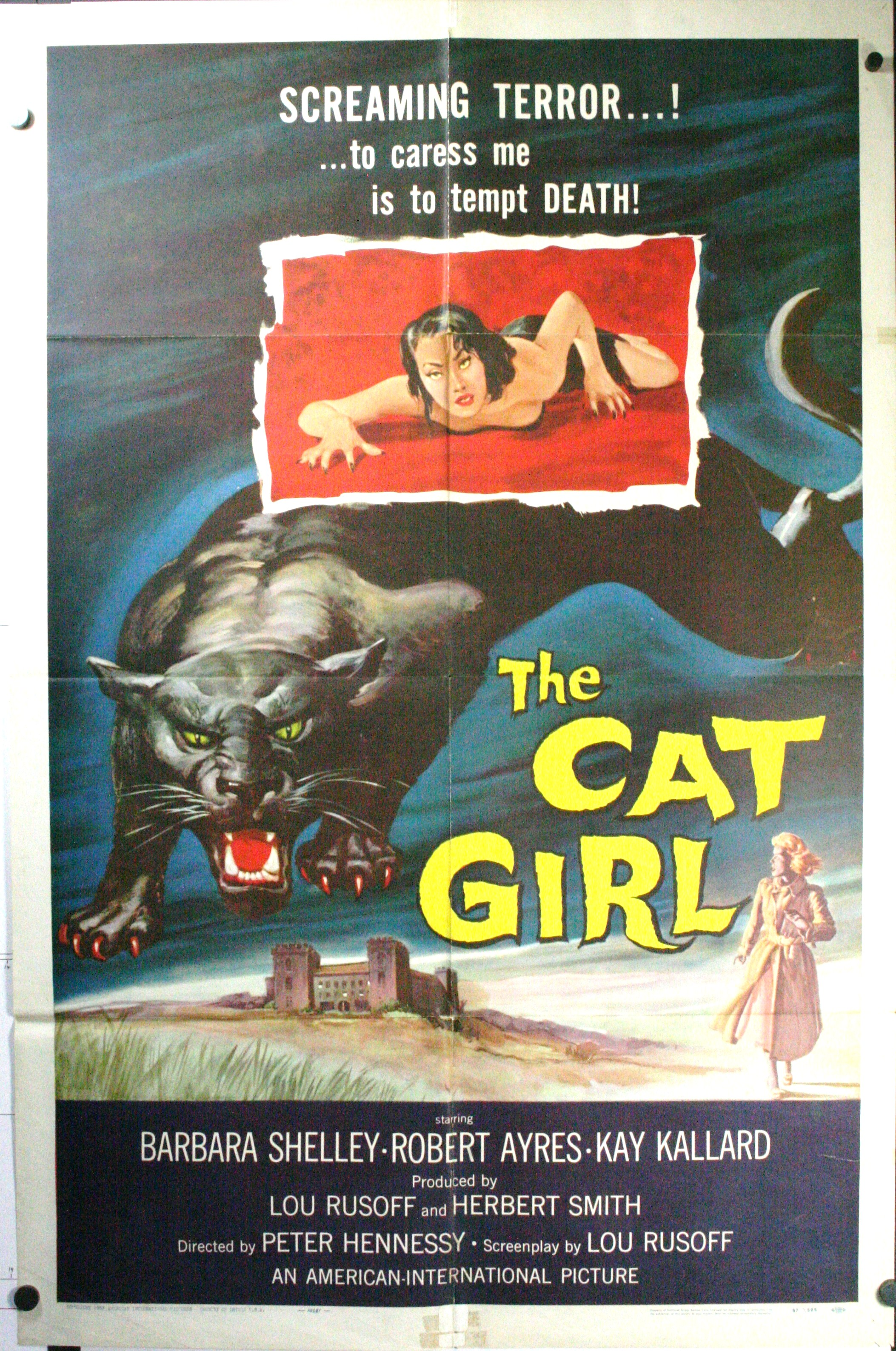 CAT GIRL, Original Vintage Movie Poster