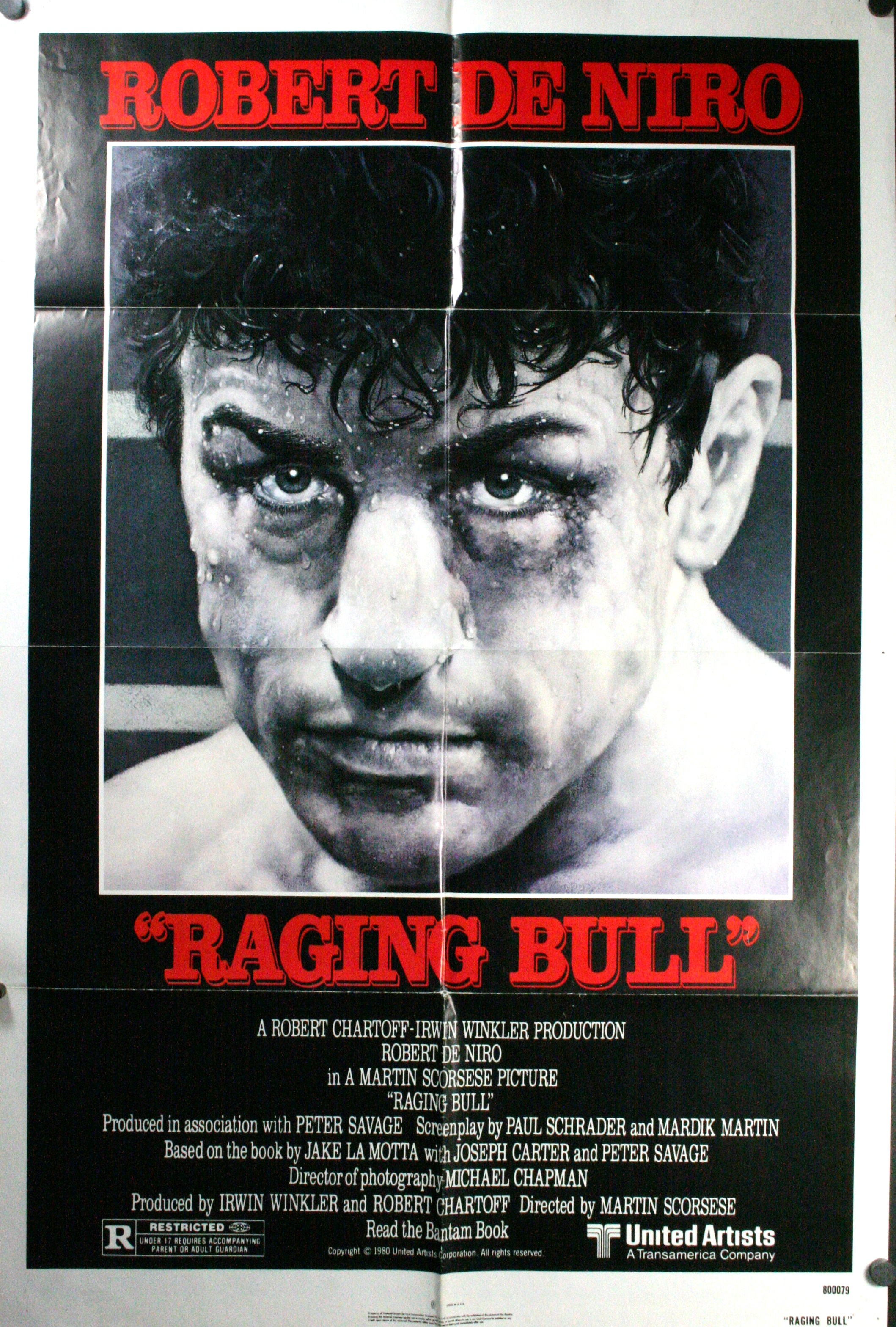 RAGING BULL, Original Vintage Movie Poster