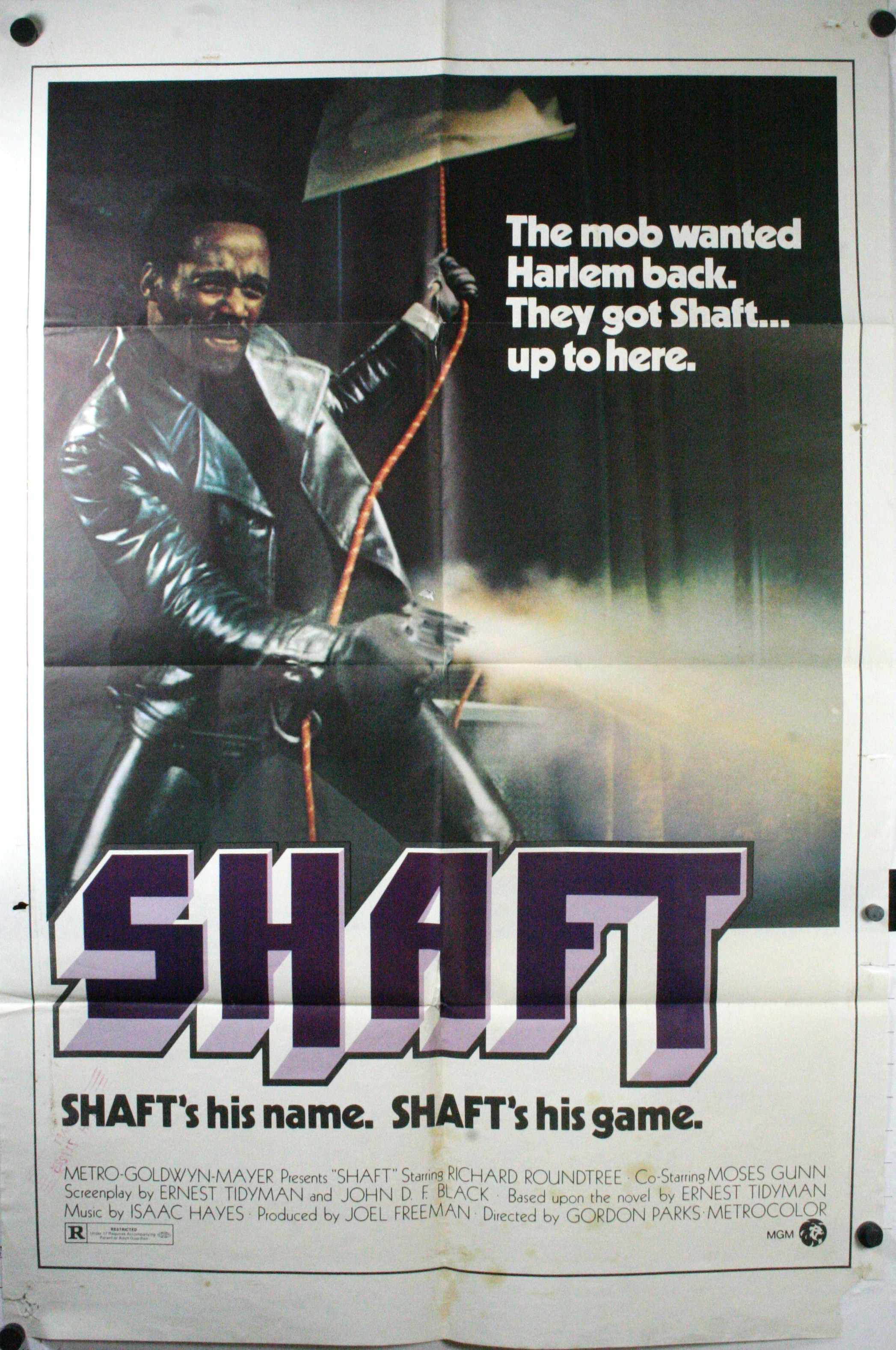 SHAFT, Original Vintage Movie Poster. Isaac Hayes soundtrack