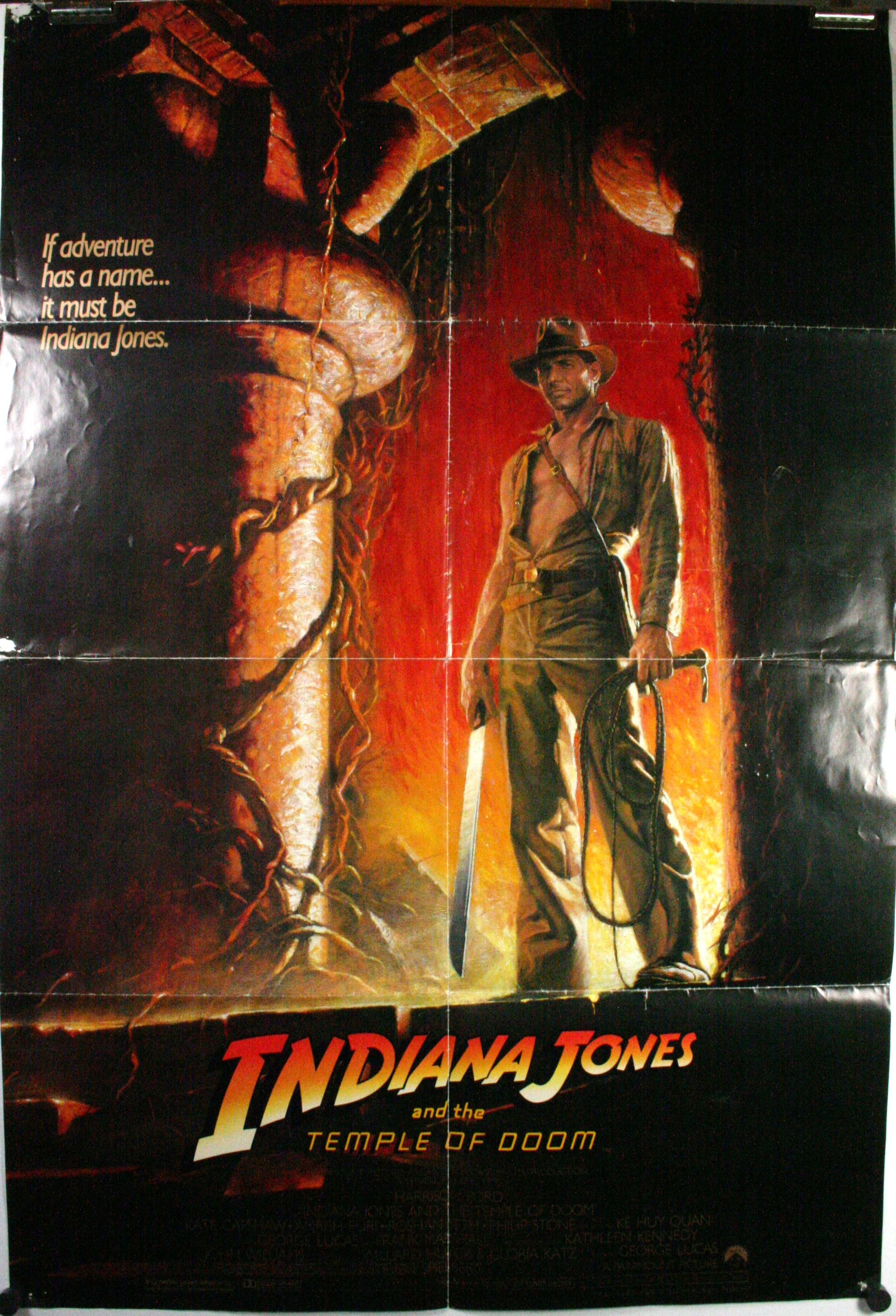... , Harrison Ford Steven Spielberg George Lucas Original Movie Poster