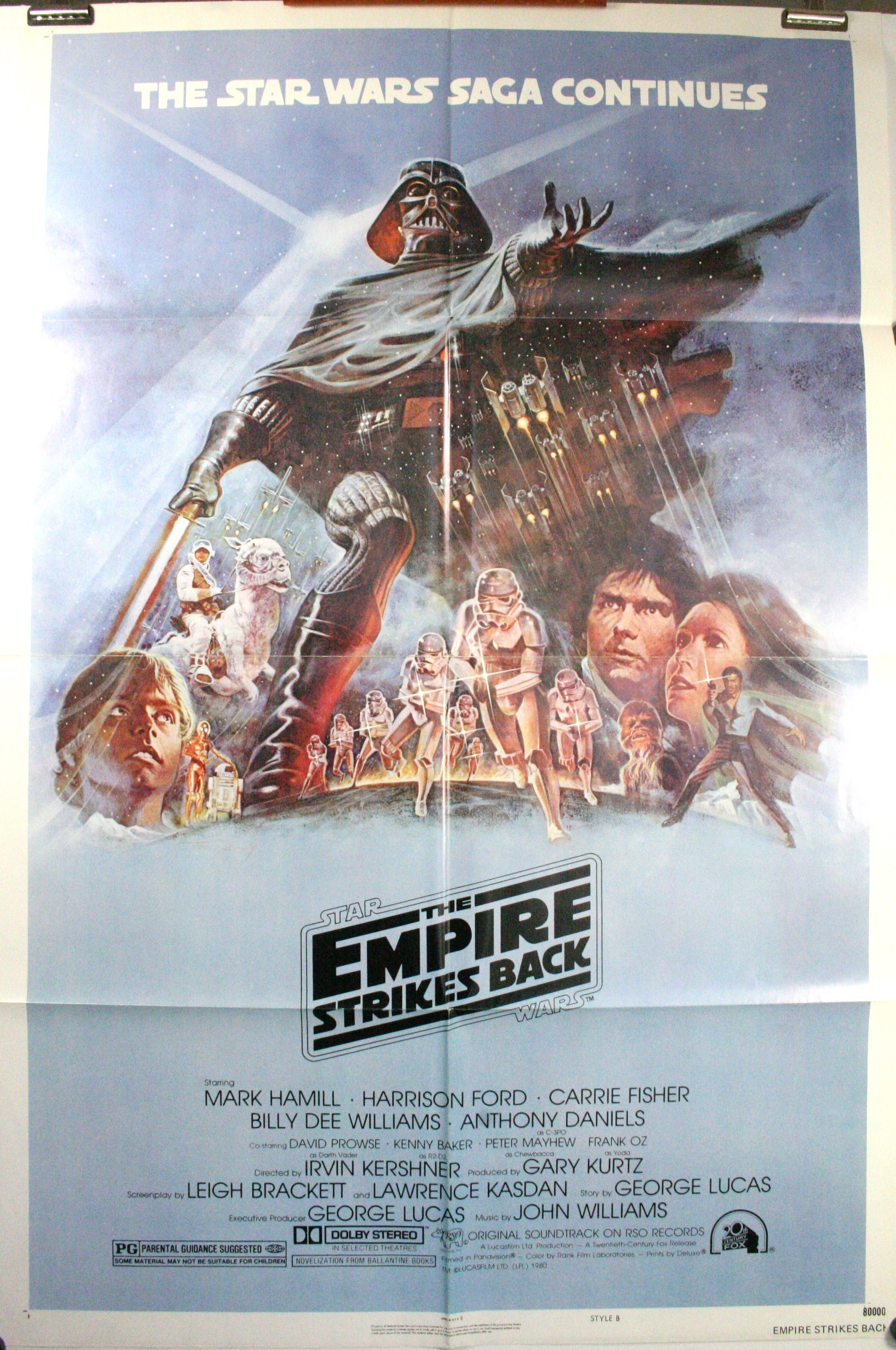 Star Wars Episode V The Empire Strikes Back 1 Sheet Blue Style B Movie Poster Original Vintage Movie Posters