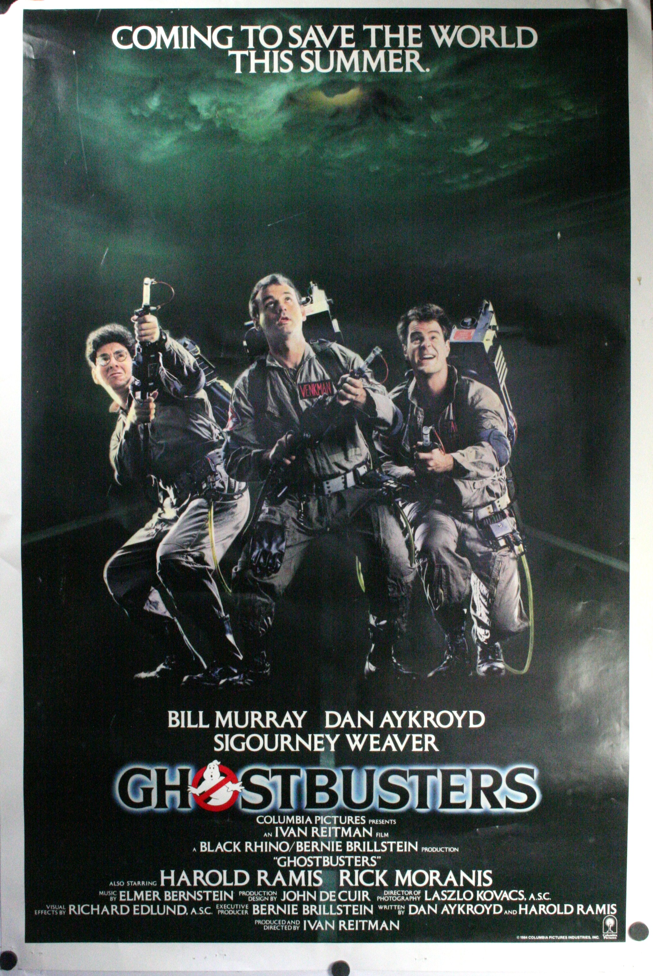 GHOSTBUSTERS, Bill Murray, Dan Aykroyd, Sigourney Weaver Original ...
