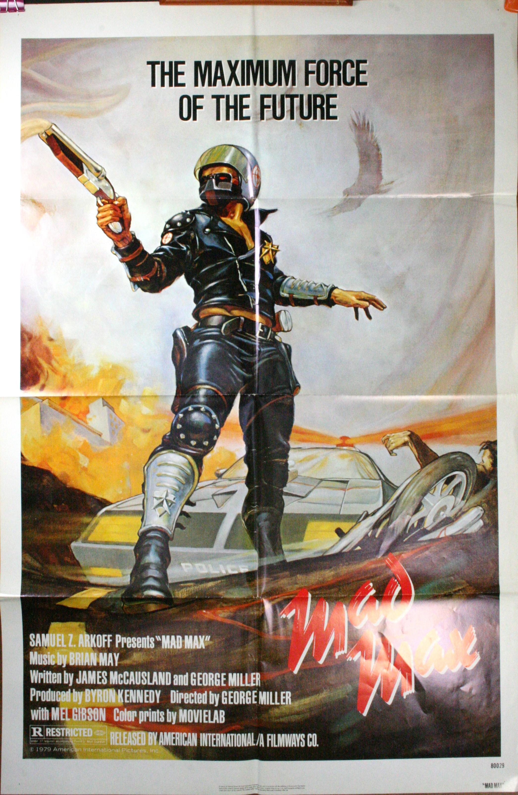 Mad max mel gibson george miller original vintage movie poster