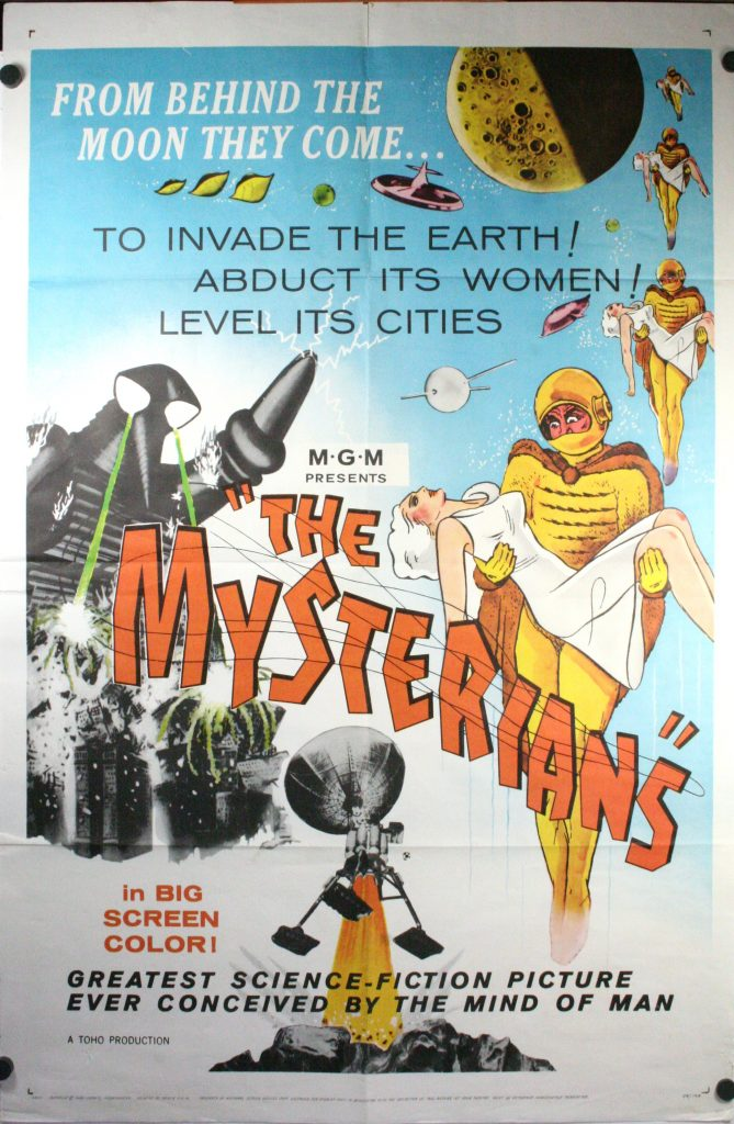 MYSTERIANS, MGM Sci Fi Original Vintage Movie Poster