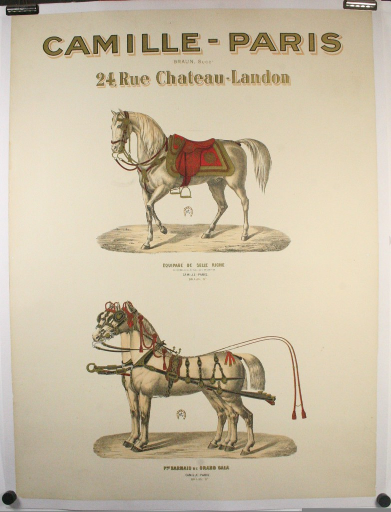 Camille Paris Horse Tackle Advertising Poster Original