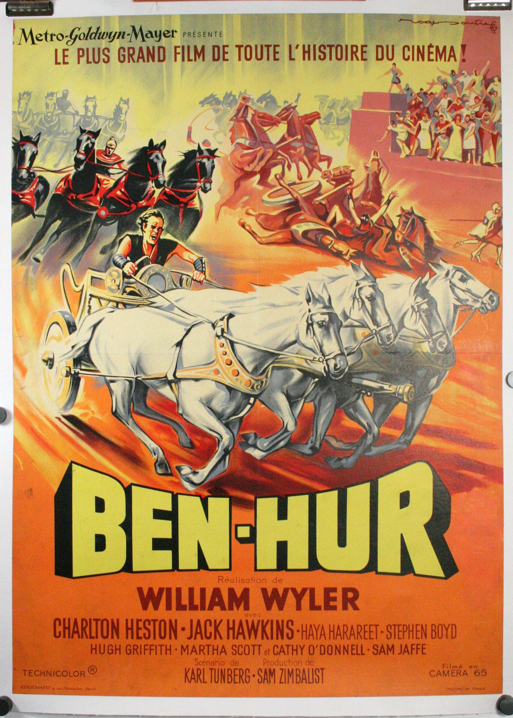 BEN HUR, Original French Medium Poster on linen