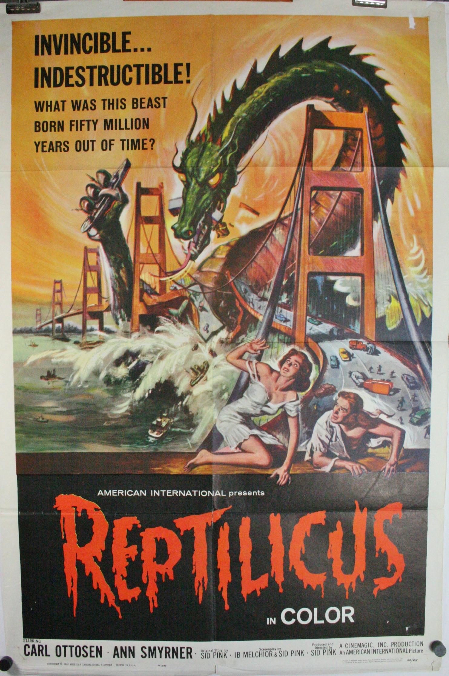 REPTILICUS, Original Authentic 60s Sci Fi Monster Movie