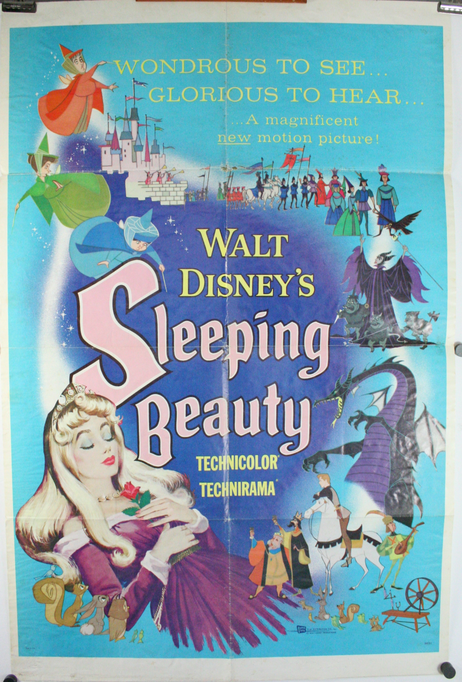 SLEEPING BEAUTY, 1959 Style A Original Animated Walt ...