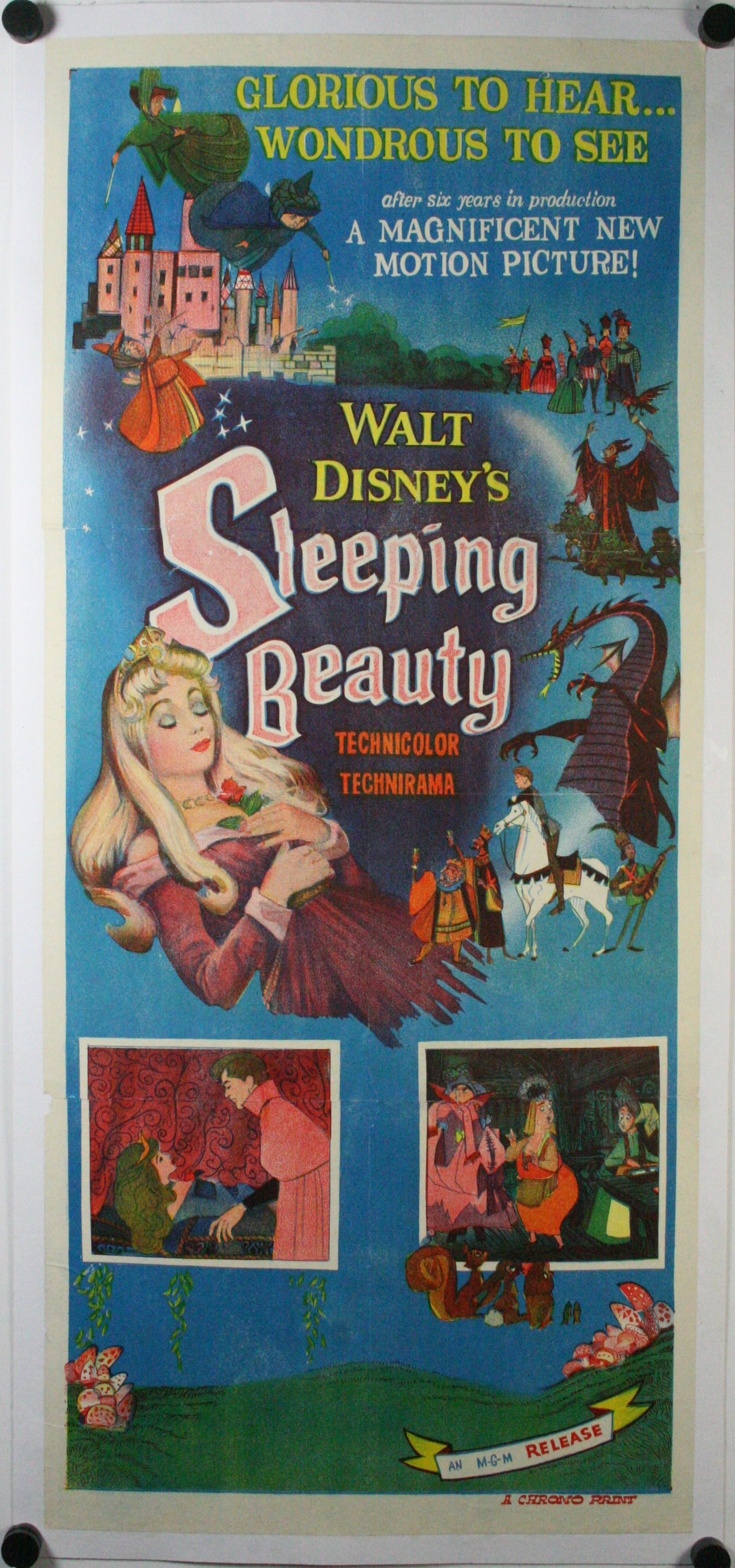 SLEEPING BEAUTY, Original Vintage Australian Daybill Film ...