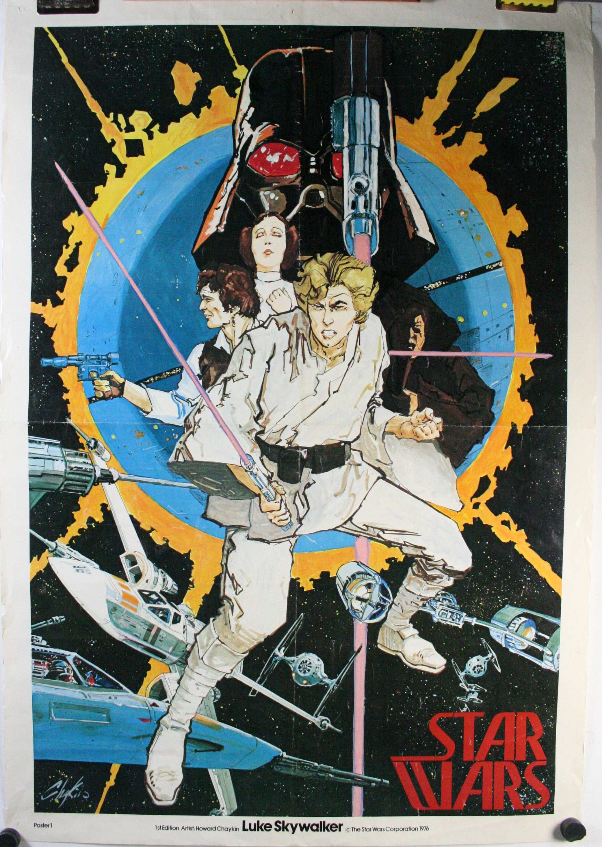 Star wars chaykin original comic con movie poster 1 for sale for Poster prints for sale
