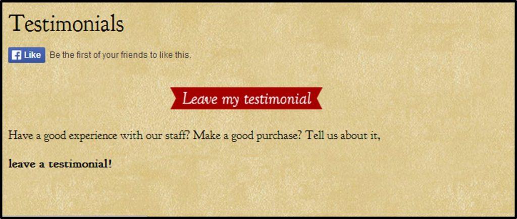 Leave Testimonial