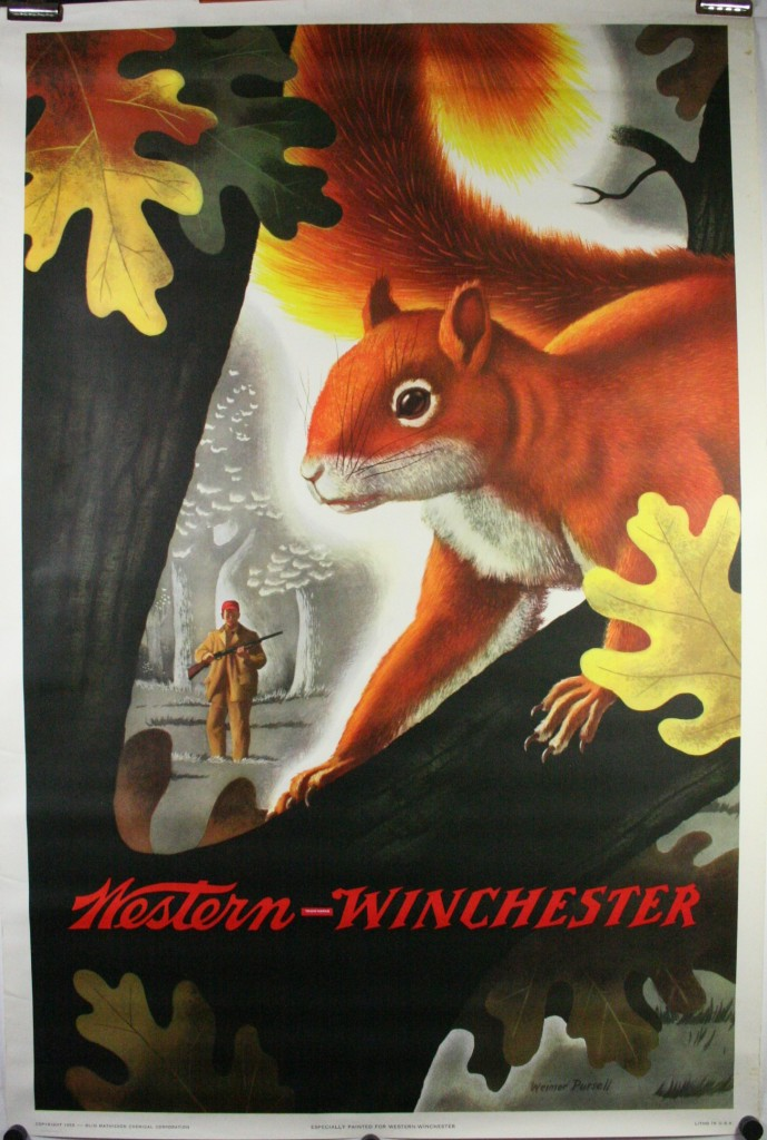 WESTERN WINCHESTER, Original Squirrel Hunting Poster by ...