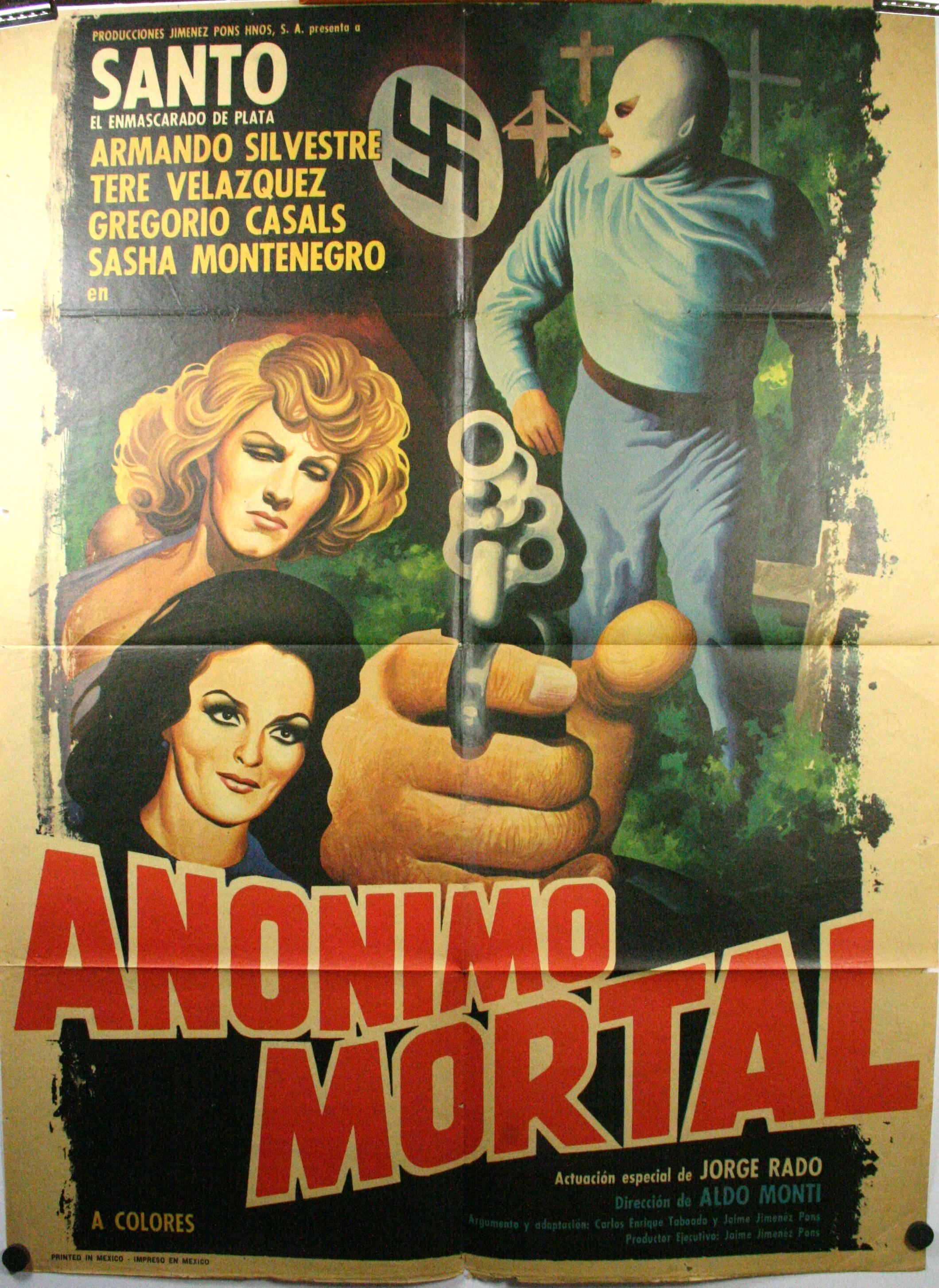 anonimo mortal original santo mexican wrestling poster