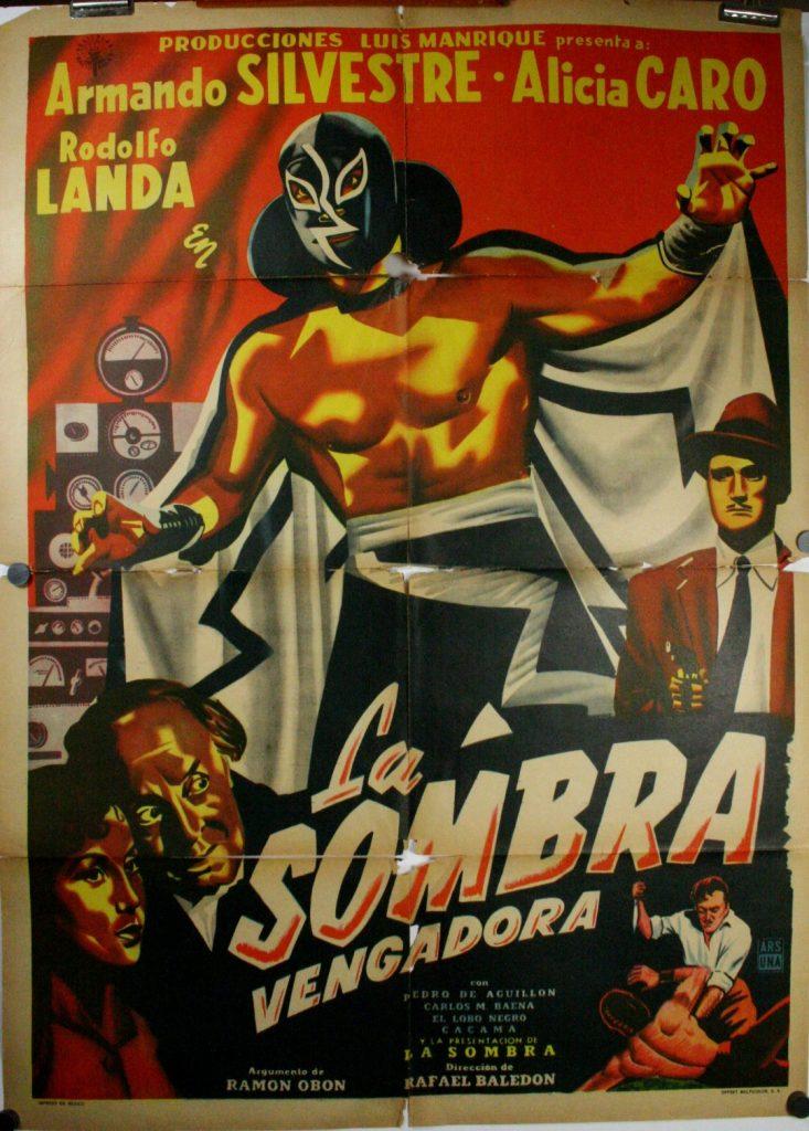 la sombra vengadora original mexican wrestling poster