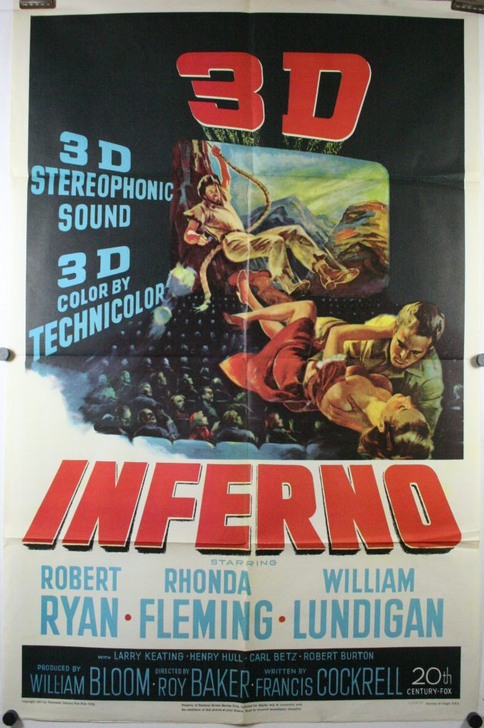 INFERNO, Original 3D 1 sheet Movie Theater Poster For Sale