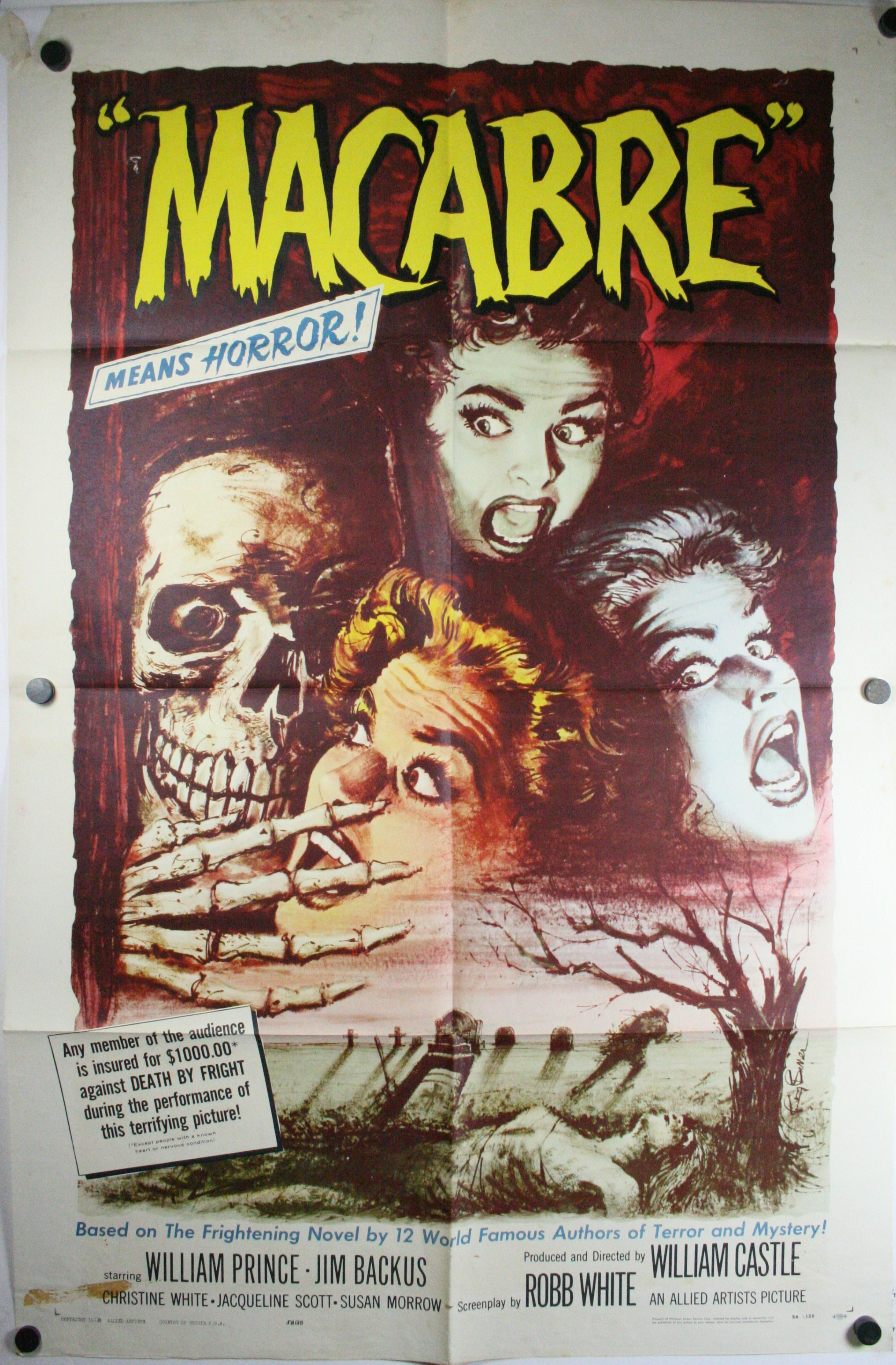 MACABRE, Original Horror US 1 sheet Movie Theater Poster ...