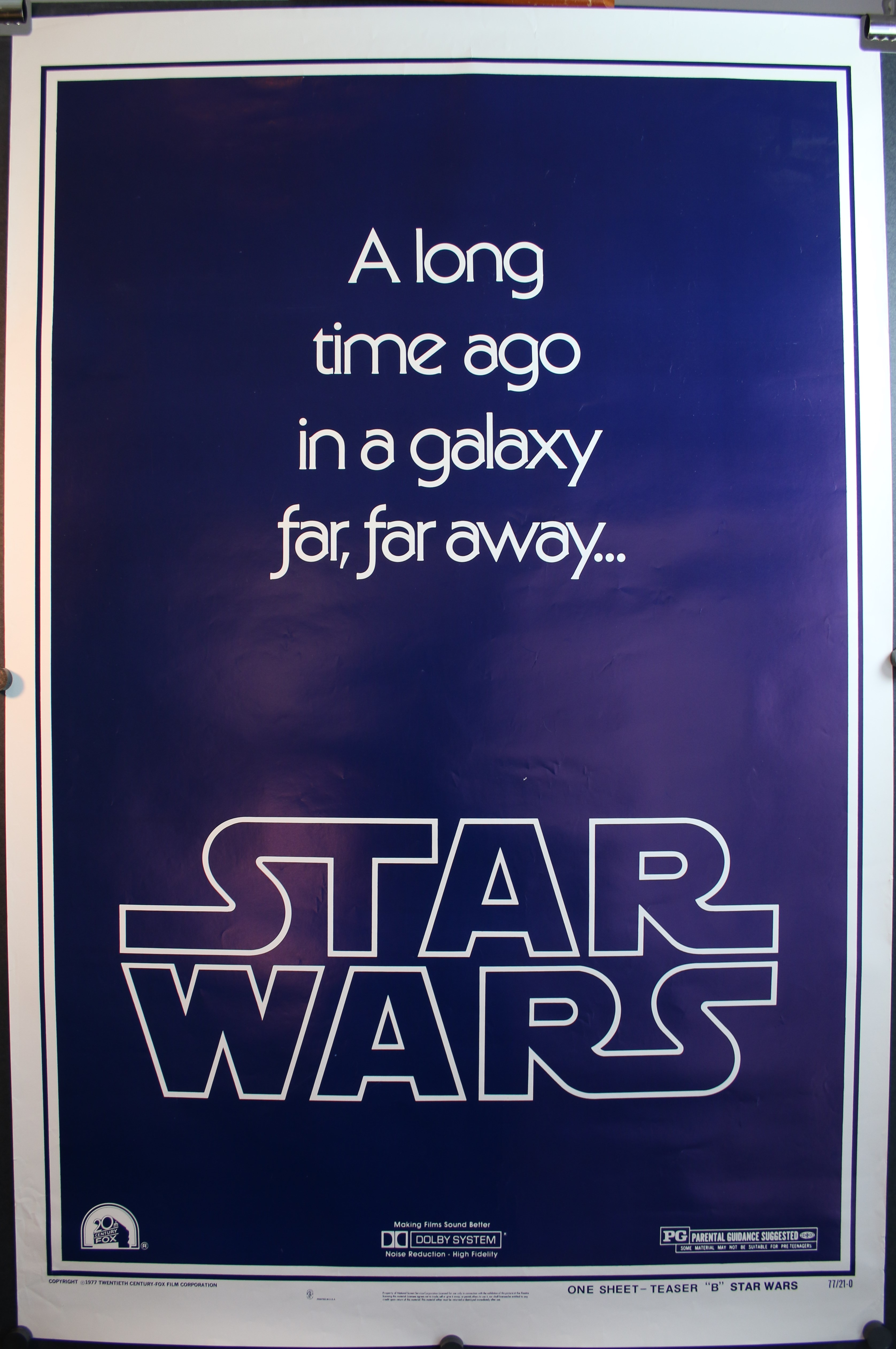 STAR WARS Authentic US Advance Teaser Style B 1 Sheet Movie Theater Poster For Sale