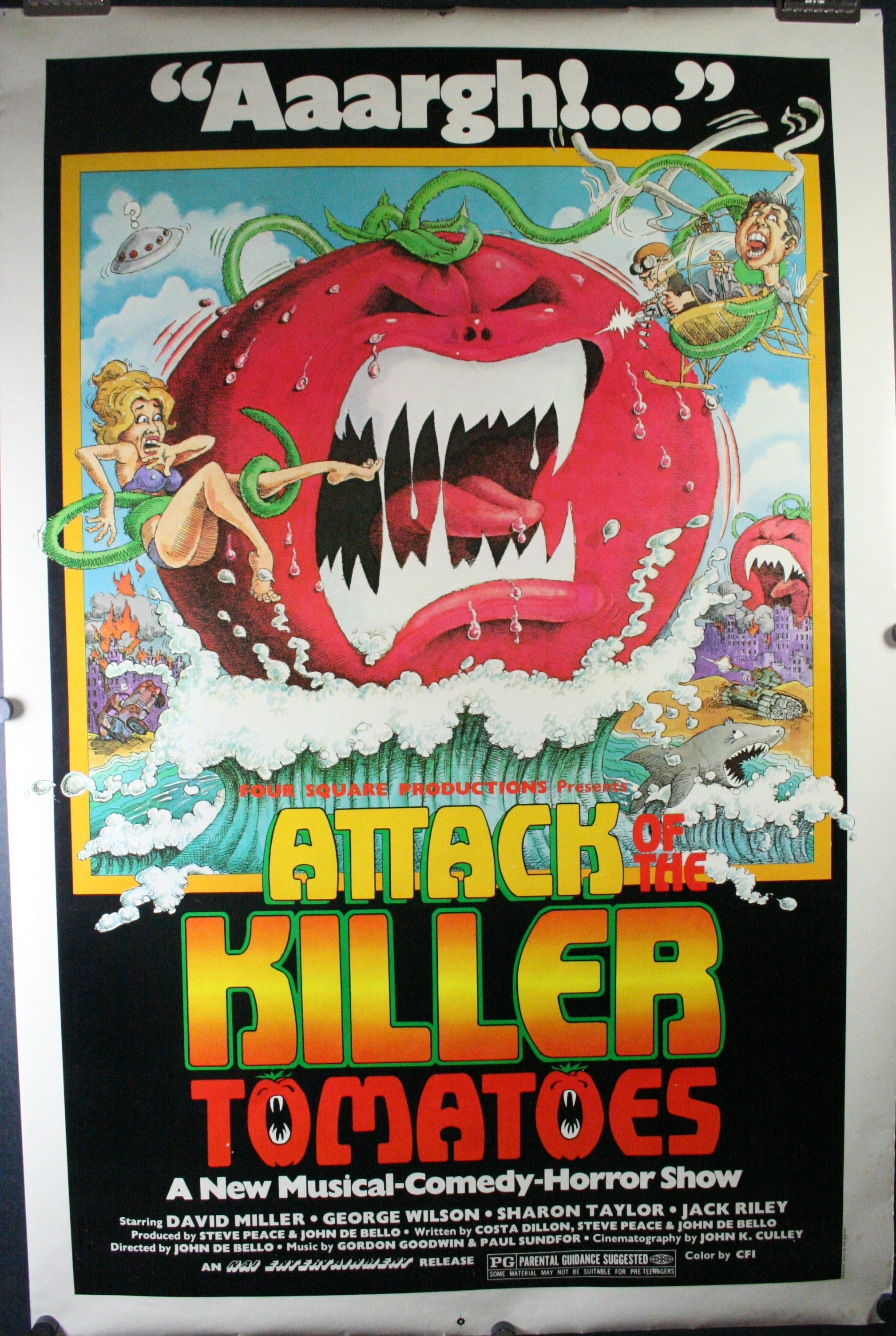ATTACK OF THE KILLER TOMATOES, Cult Grindhouse sci-fi Movie Theater