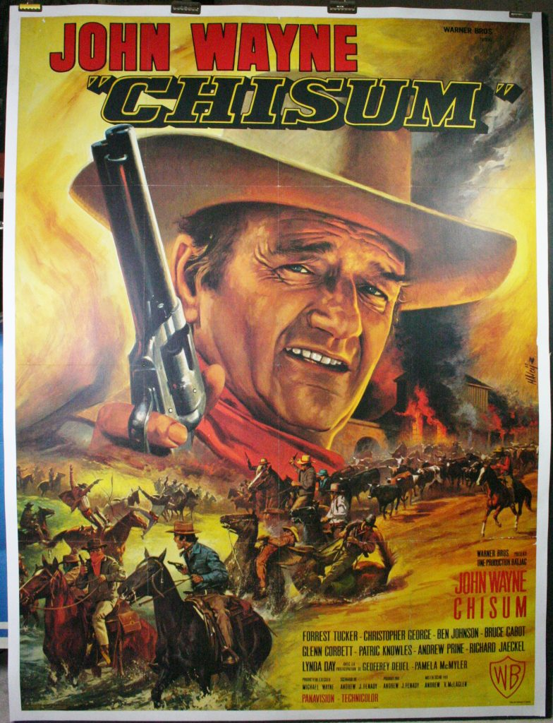 chisum original vintage john wayne movie poster