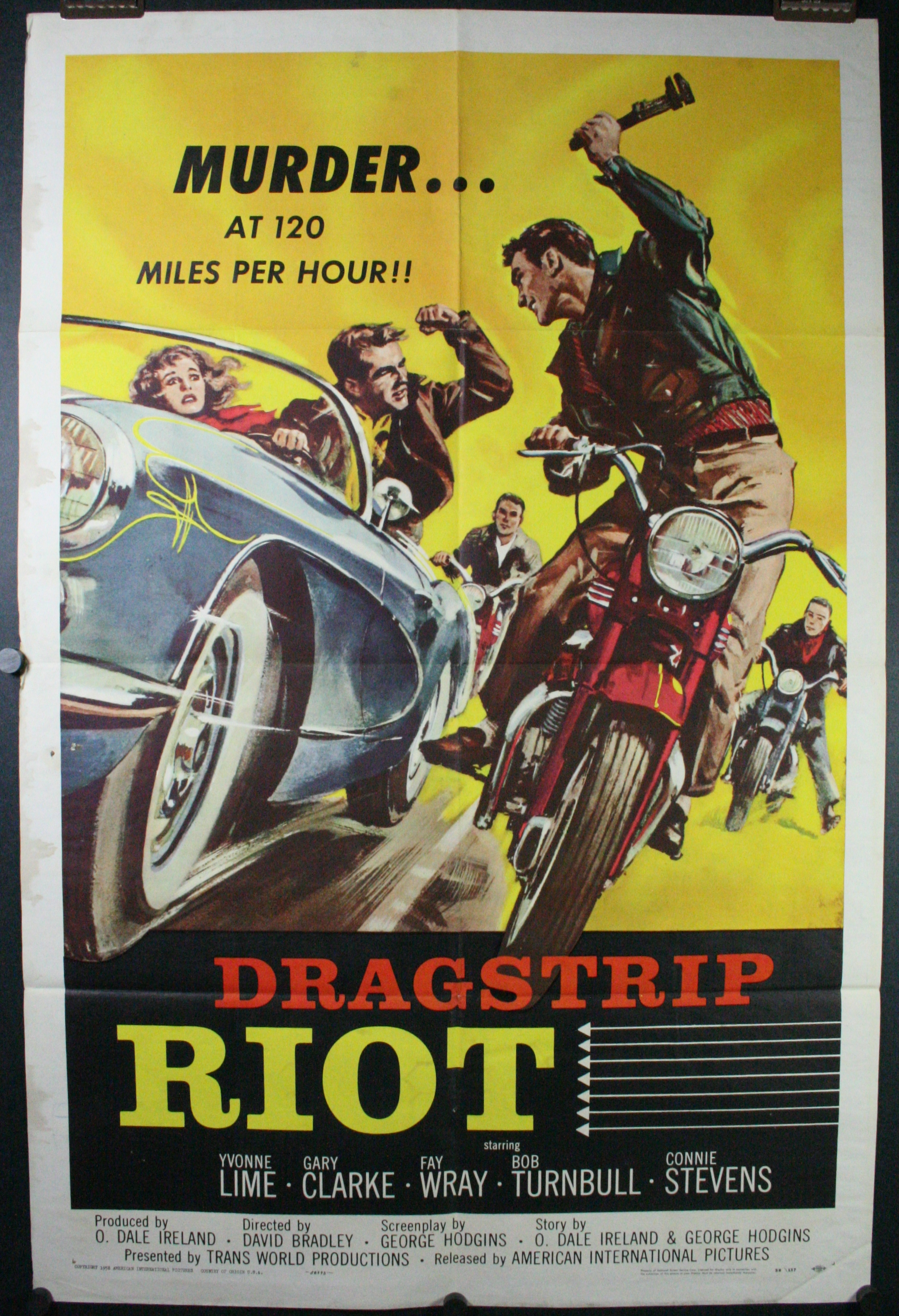 dragstrip riot original hot rod motorcycle gang drivein