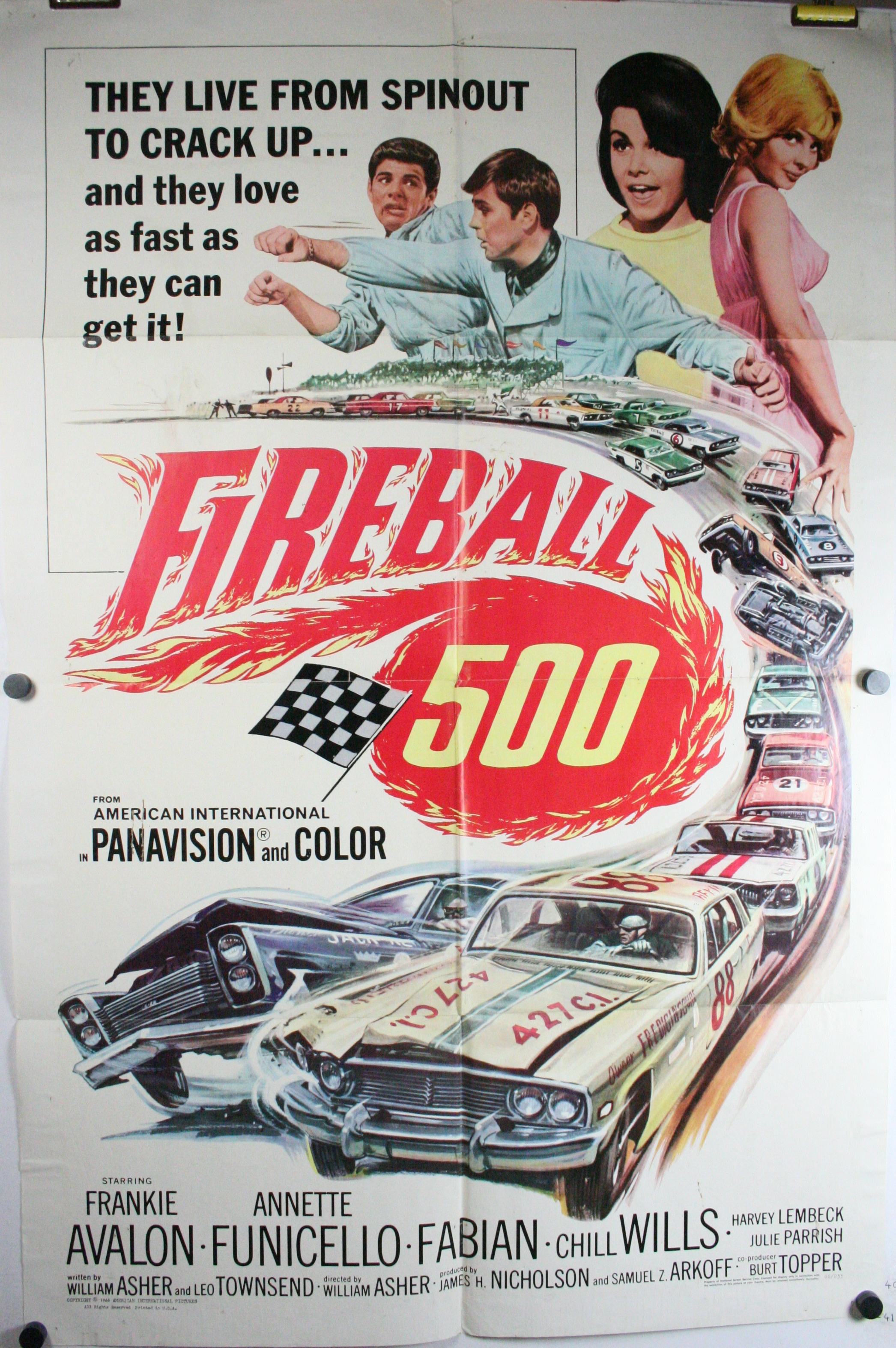 fireball 500 original antique muscle car hot rod movie