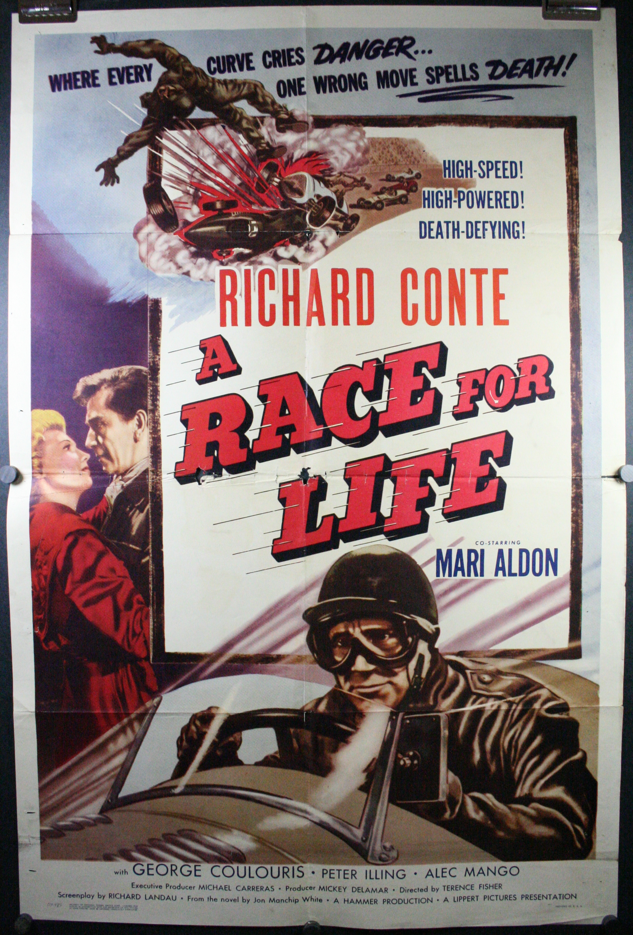 A race for life original 1 sheet hot rod antique race car for Movie photos for sale