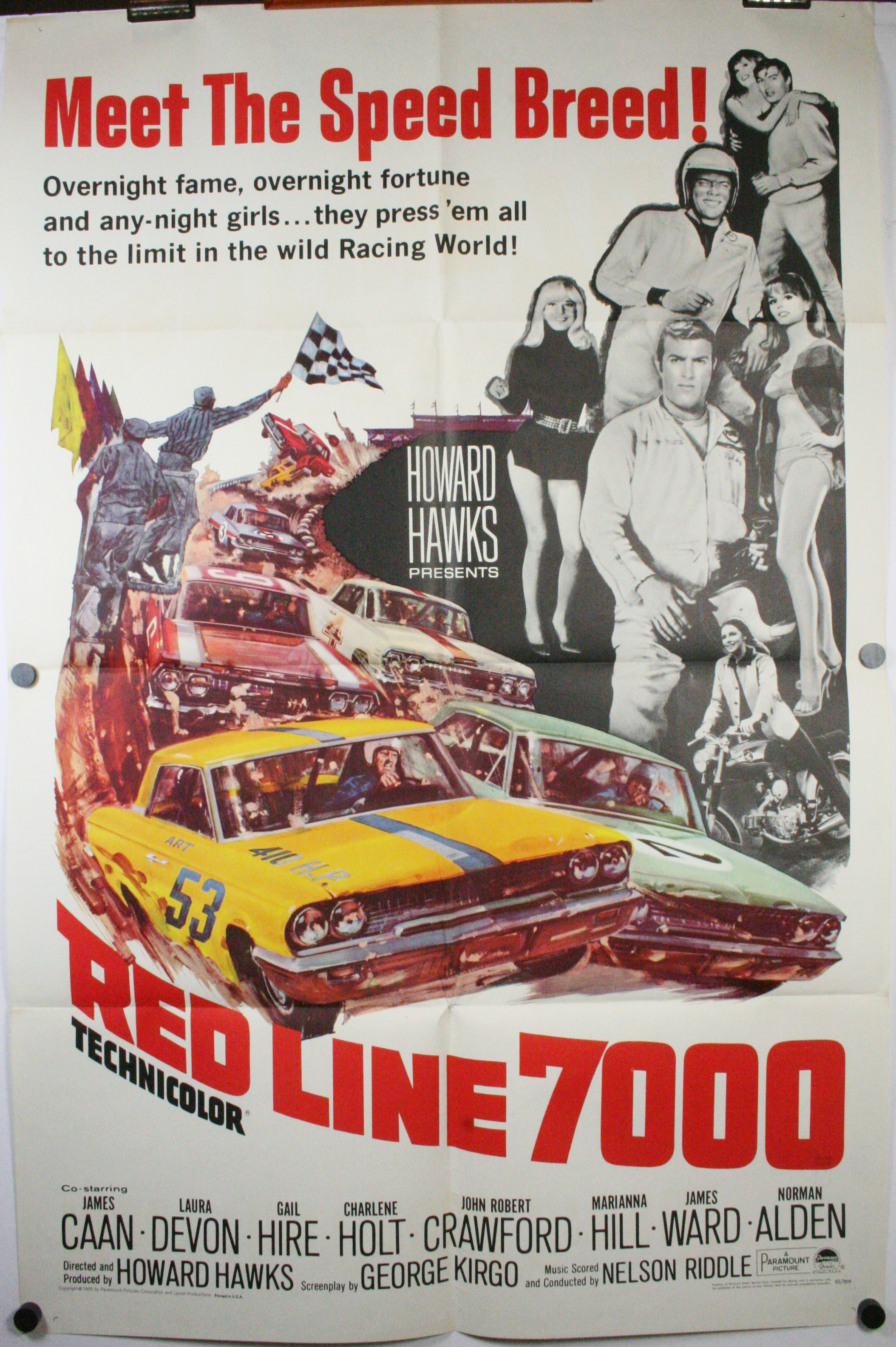 red line 7000 original car racing hot rod movie theater