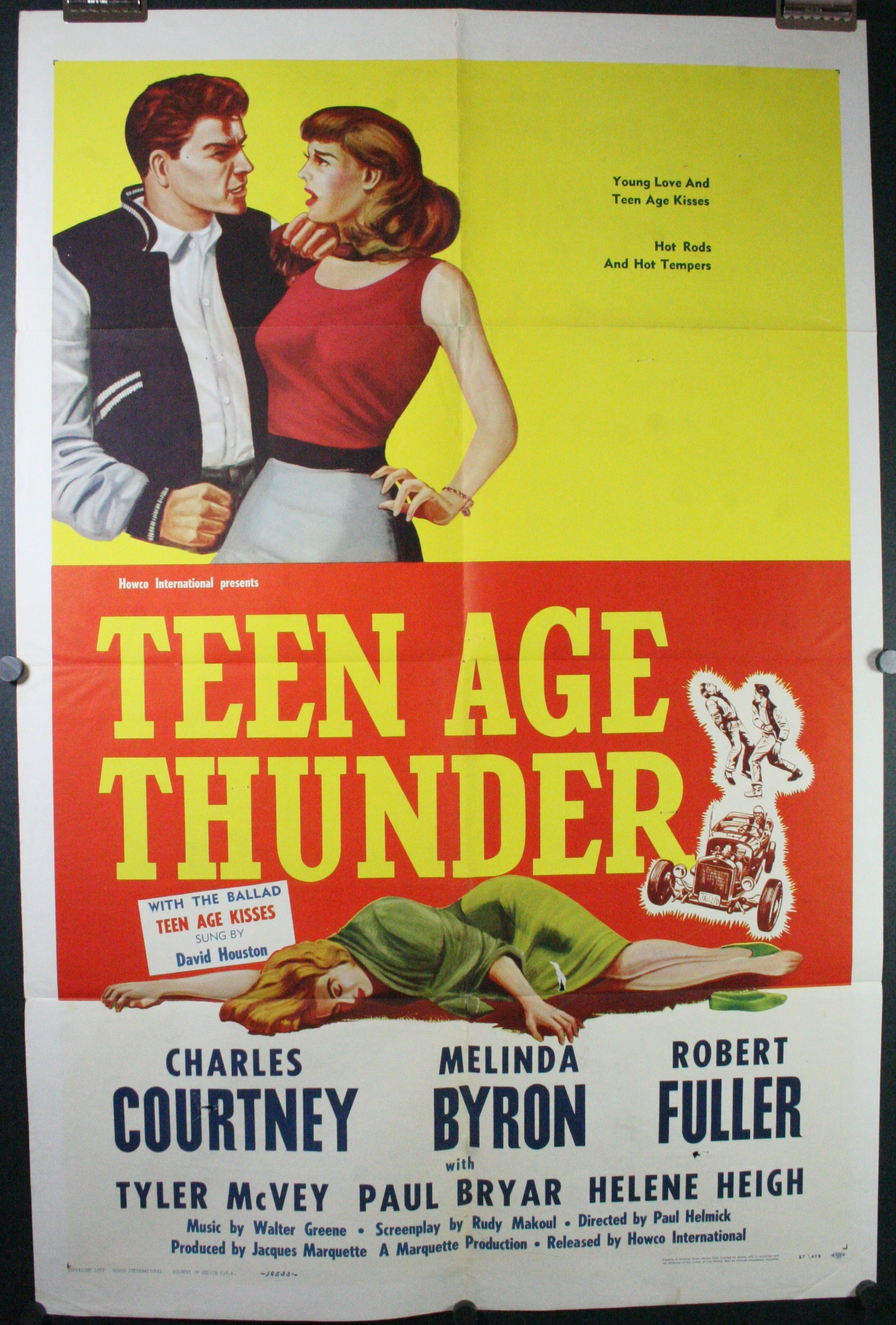 teenage thunder original antique drivein hot rod movie