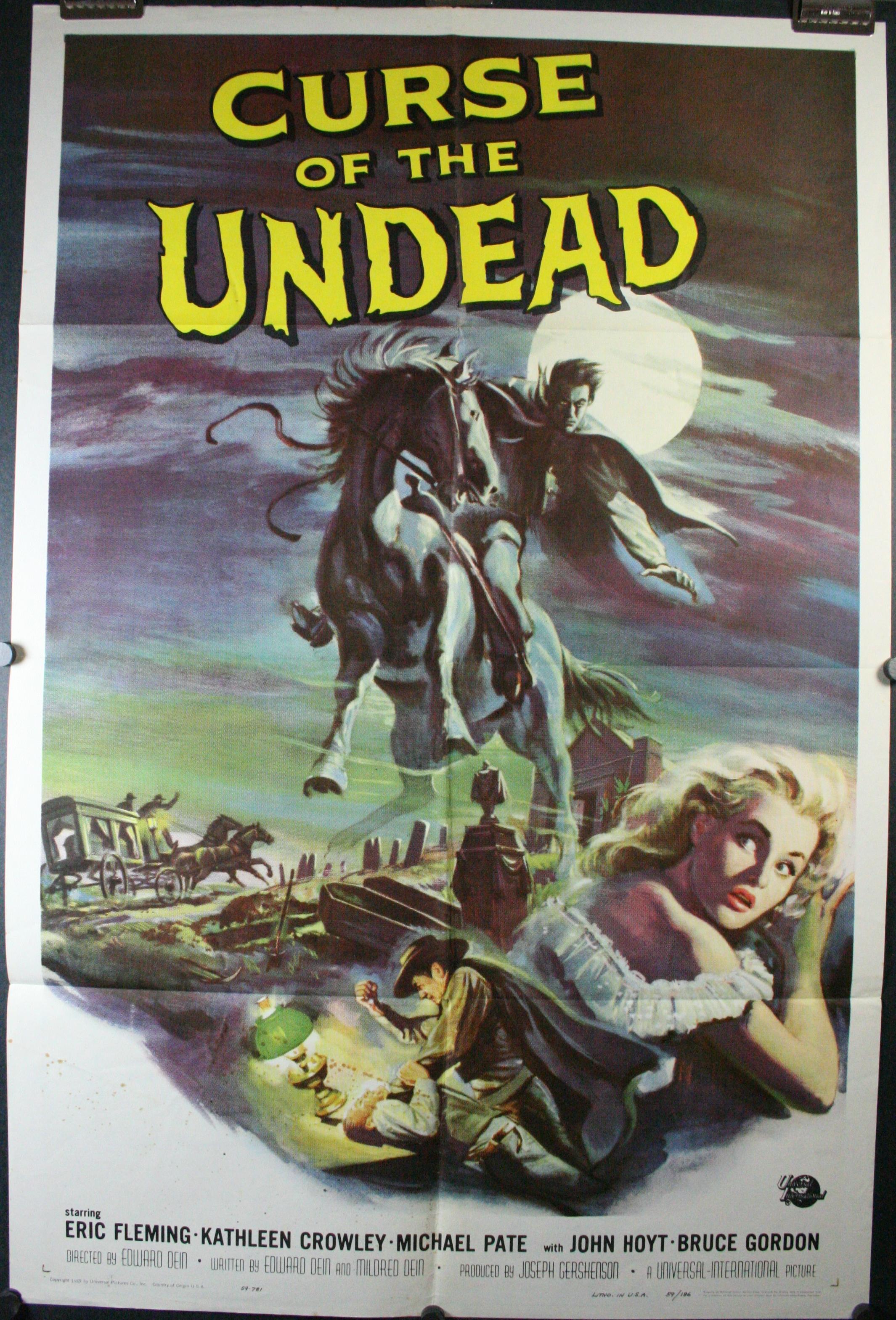 curse of the undead original 50s� horror 1 sheet movie