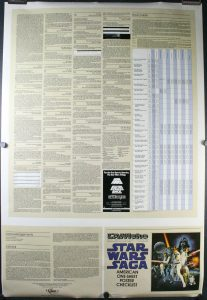 Star Wars Saga Poster Checklist