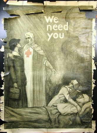 WW1 poster Pre-Restoration