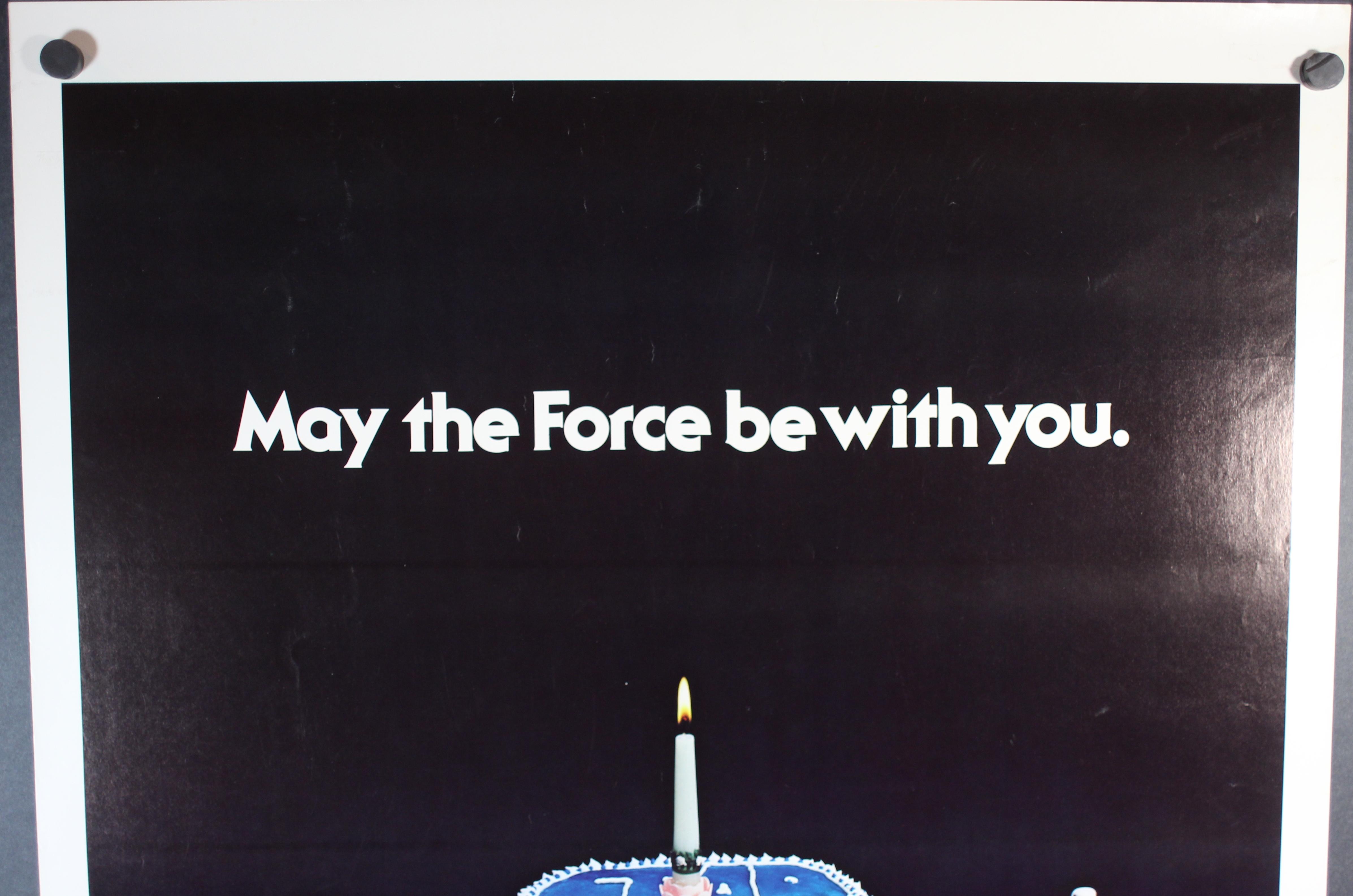Star Wars Birthday Cake Poster Guaranteed Original 1 Sheet Kenner