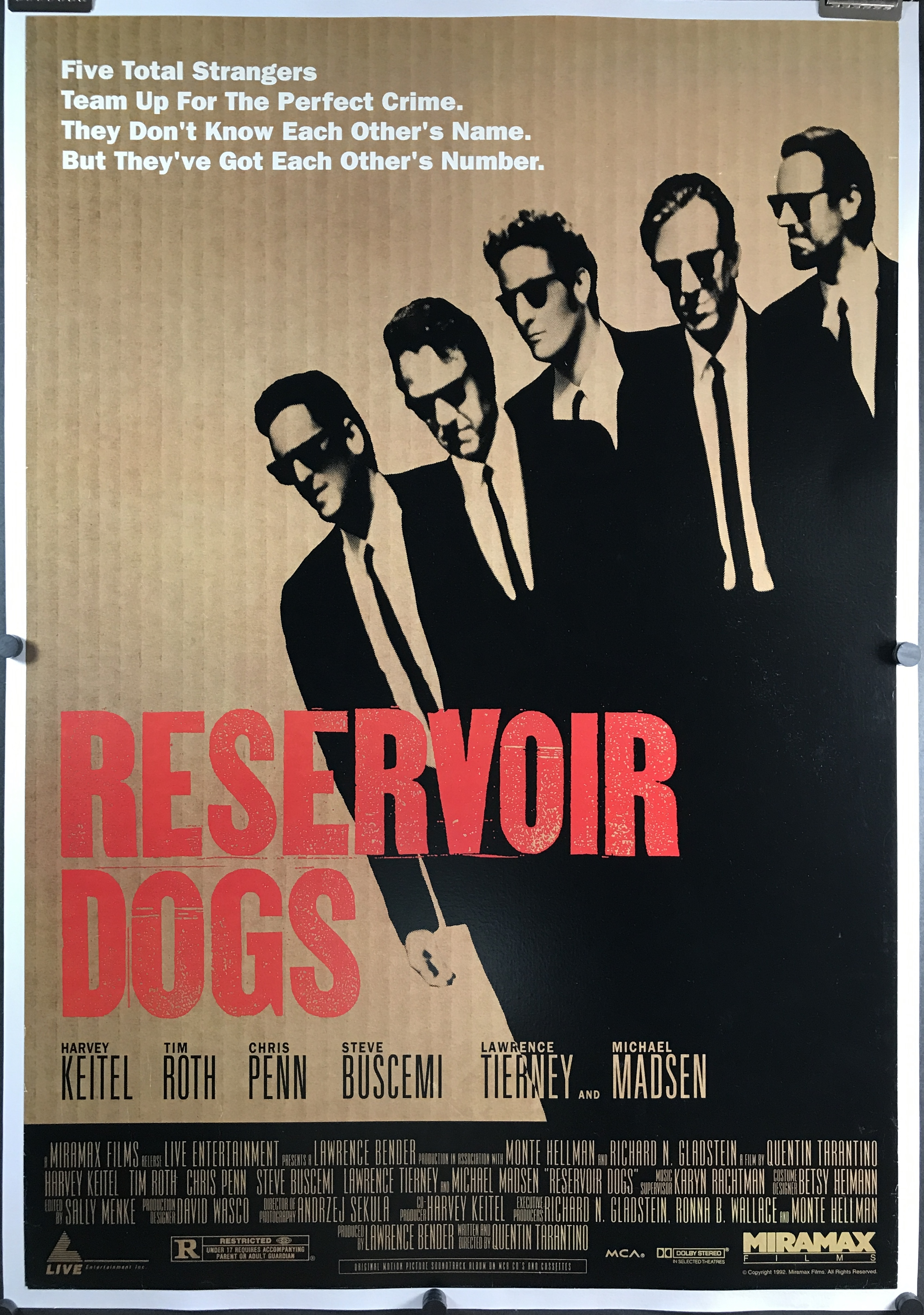 RESERVOIR DOGS, Original Tarantino Grindhouse Rolled Movie