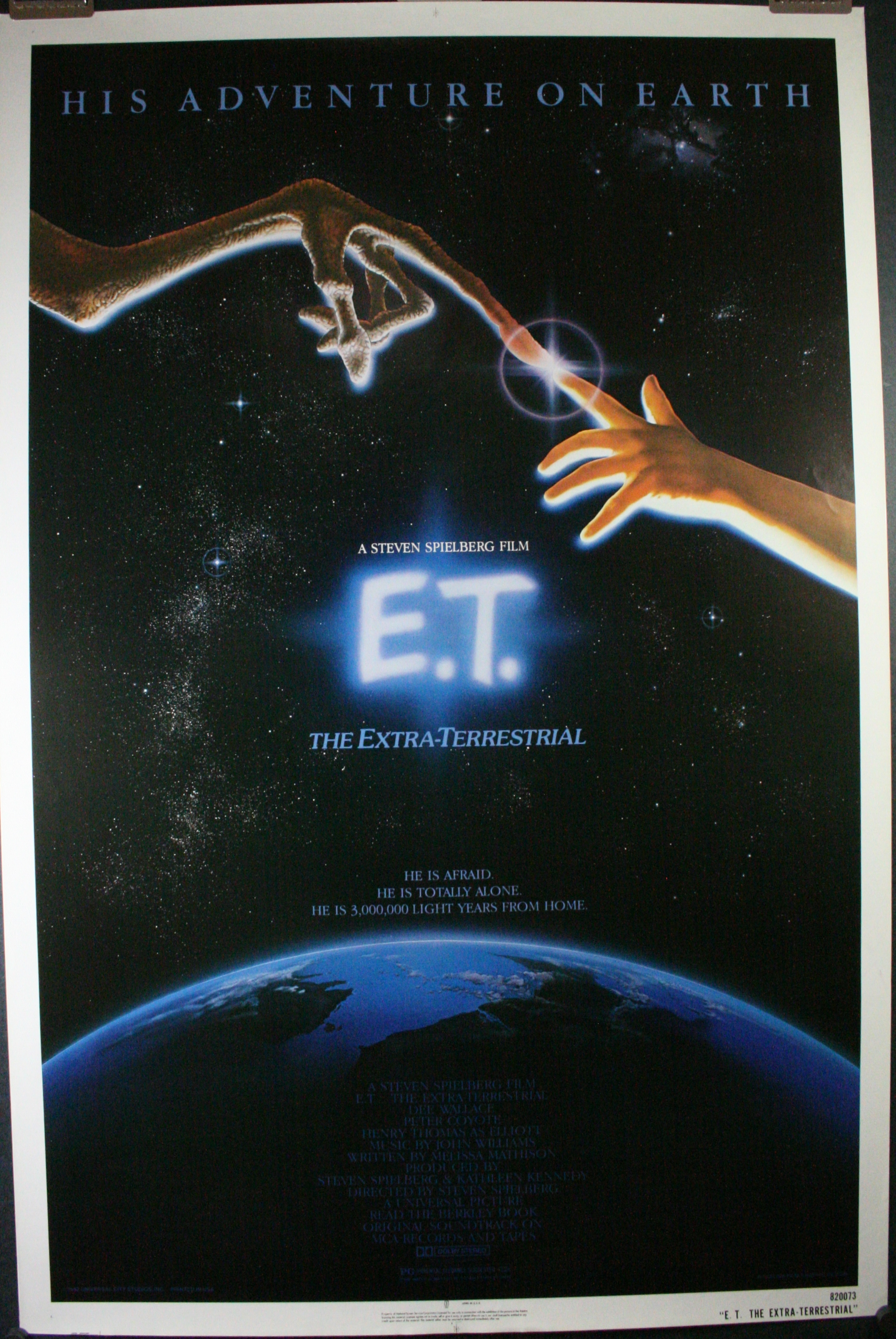 E.T. THE EXTRA TERRESTRIAL, Original Rolled ET 1 Sheet ...
