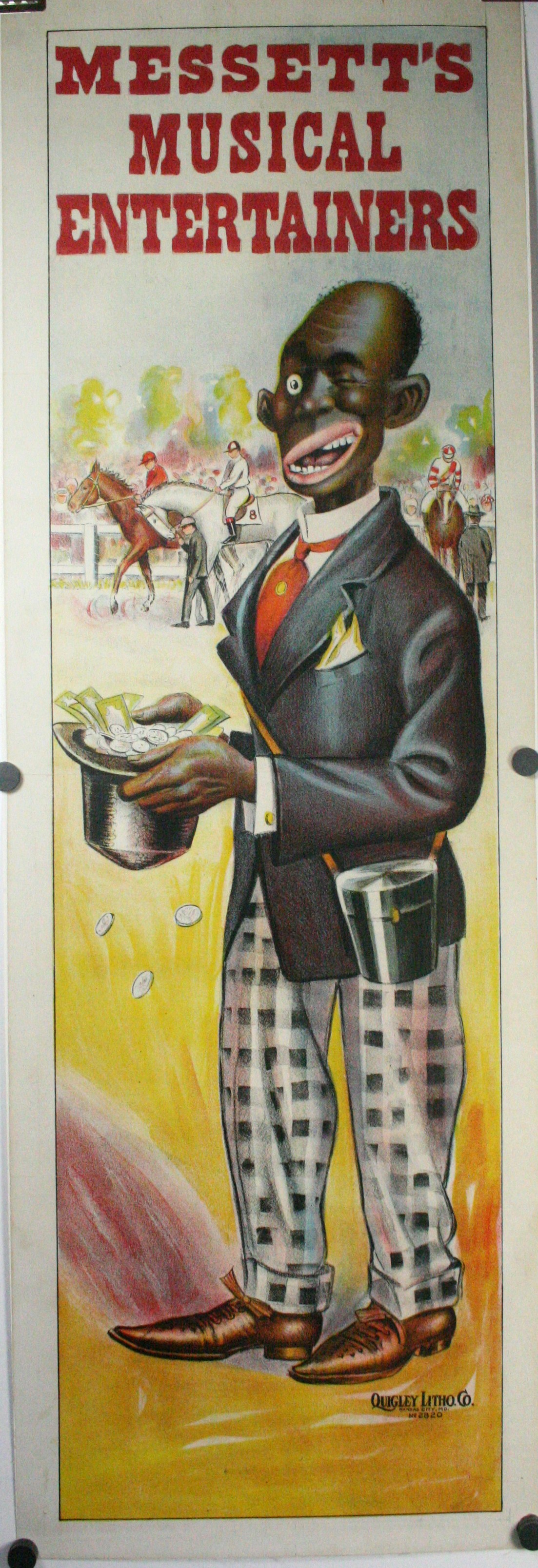 MESSETTS Musical Entertainers A Pair Of Black Americana Minstrel Posters