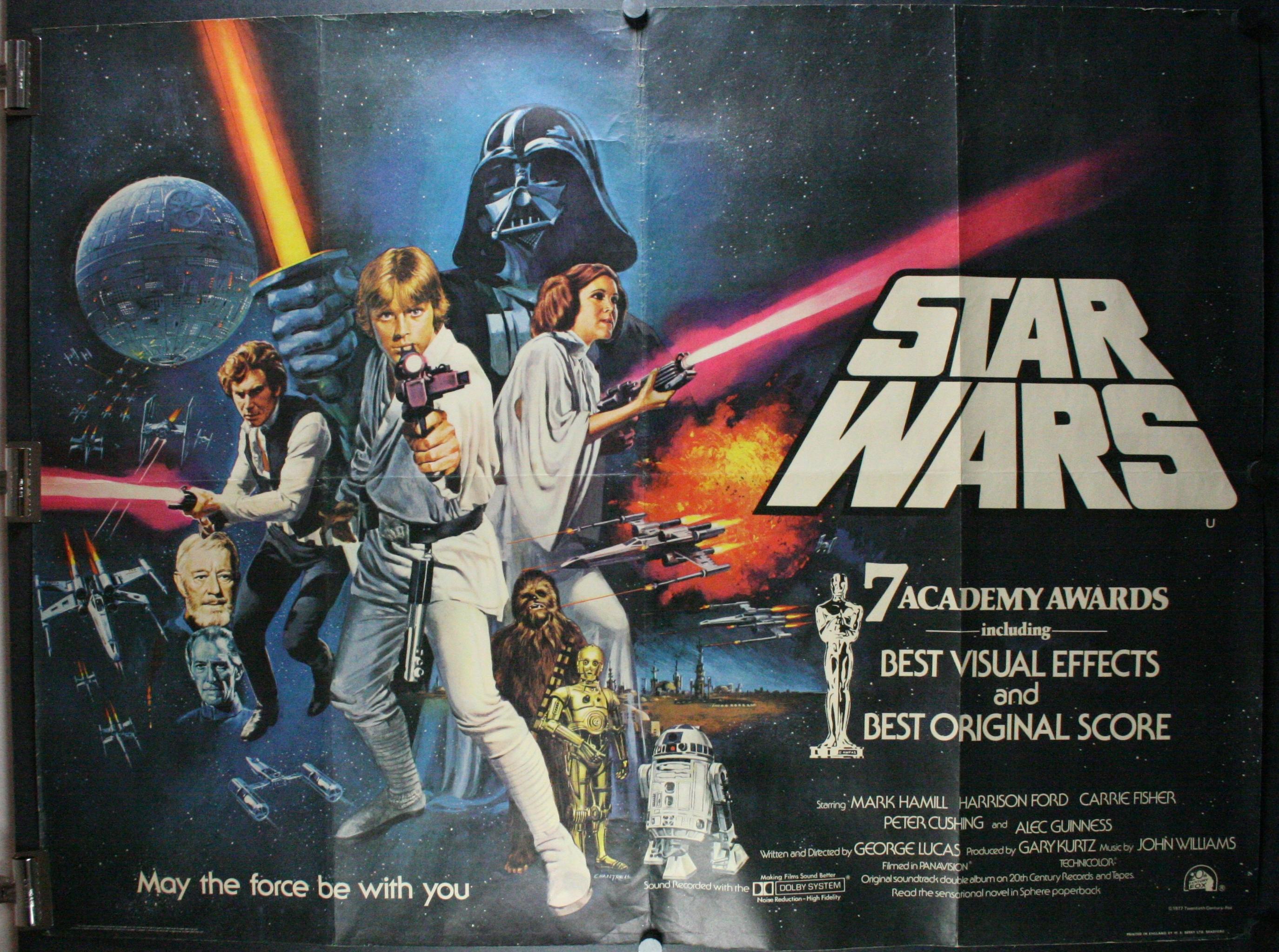 star wars, original british quad awardstheater poster 4 sale