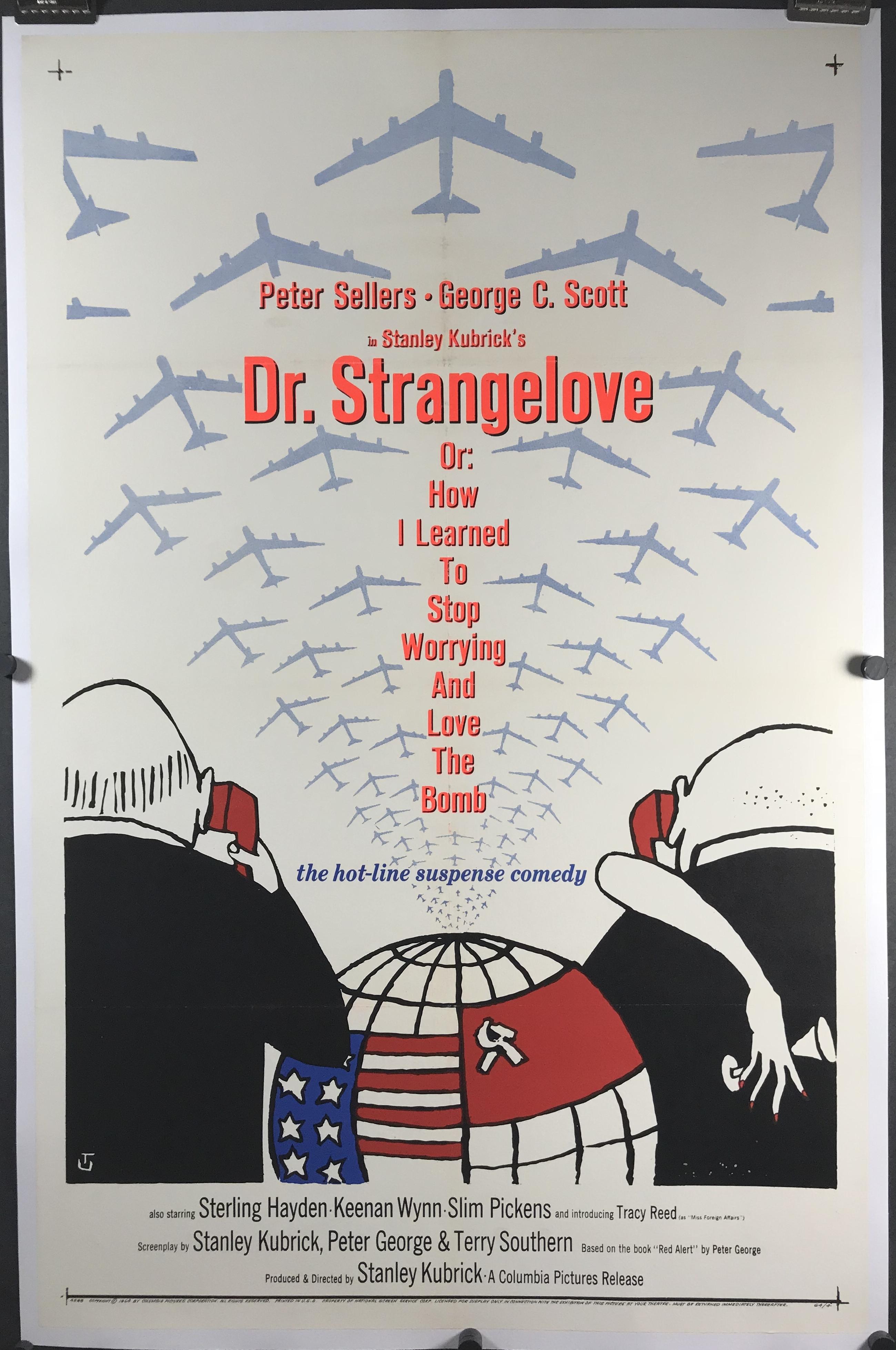 Vintage Dr Strangelove Movie Poster//// Classic Movie Poster////Movie Poster////Poste