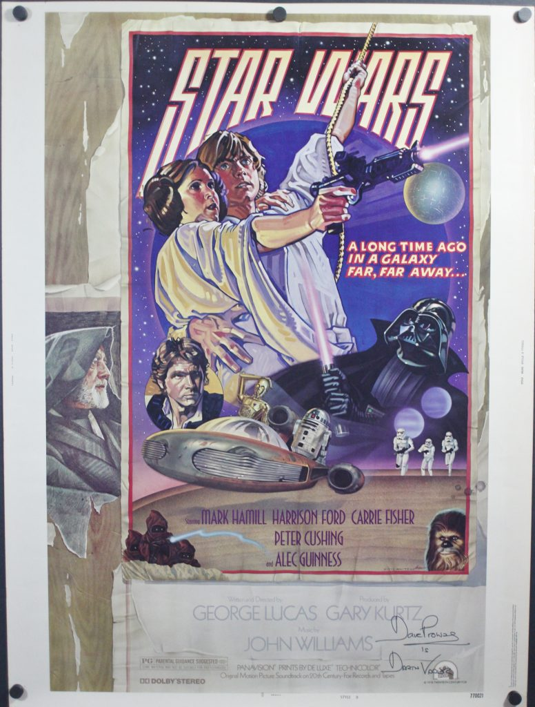 STAR WARS, Original Autographed Style D 30×40 Movie ...