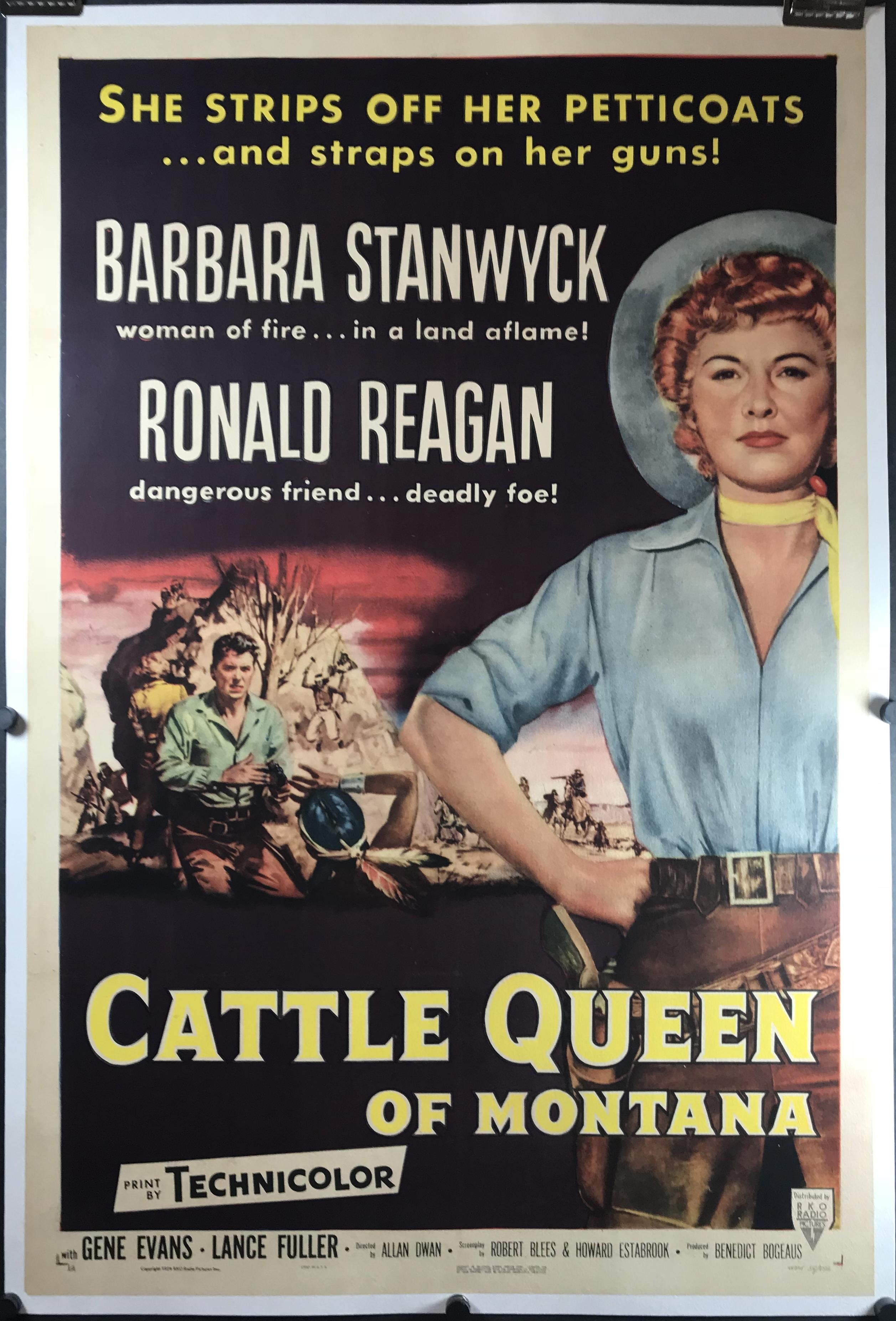 cattle queen of montana original vintage ronald reagan