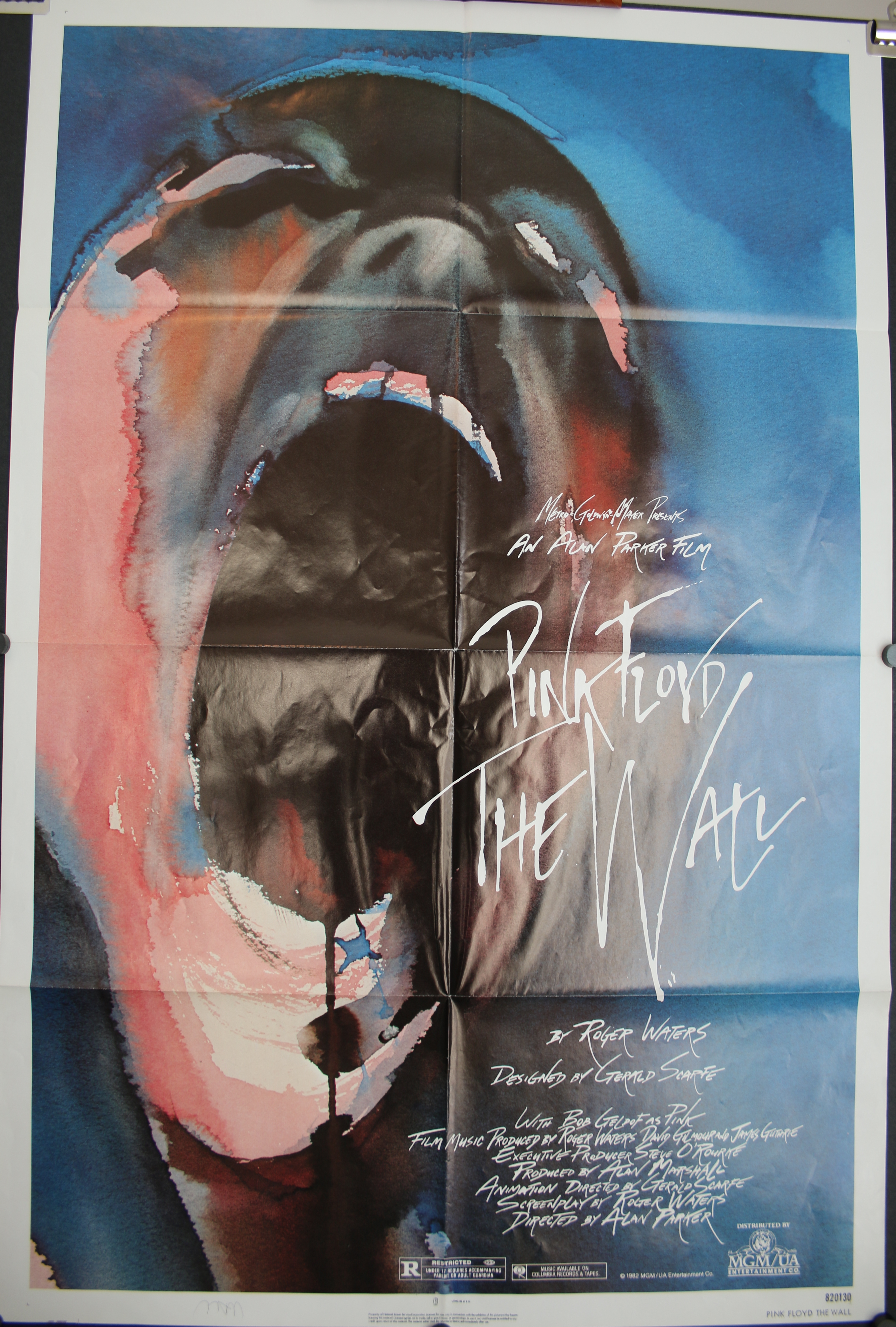 vintage pink floyd the wall movie poster small